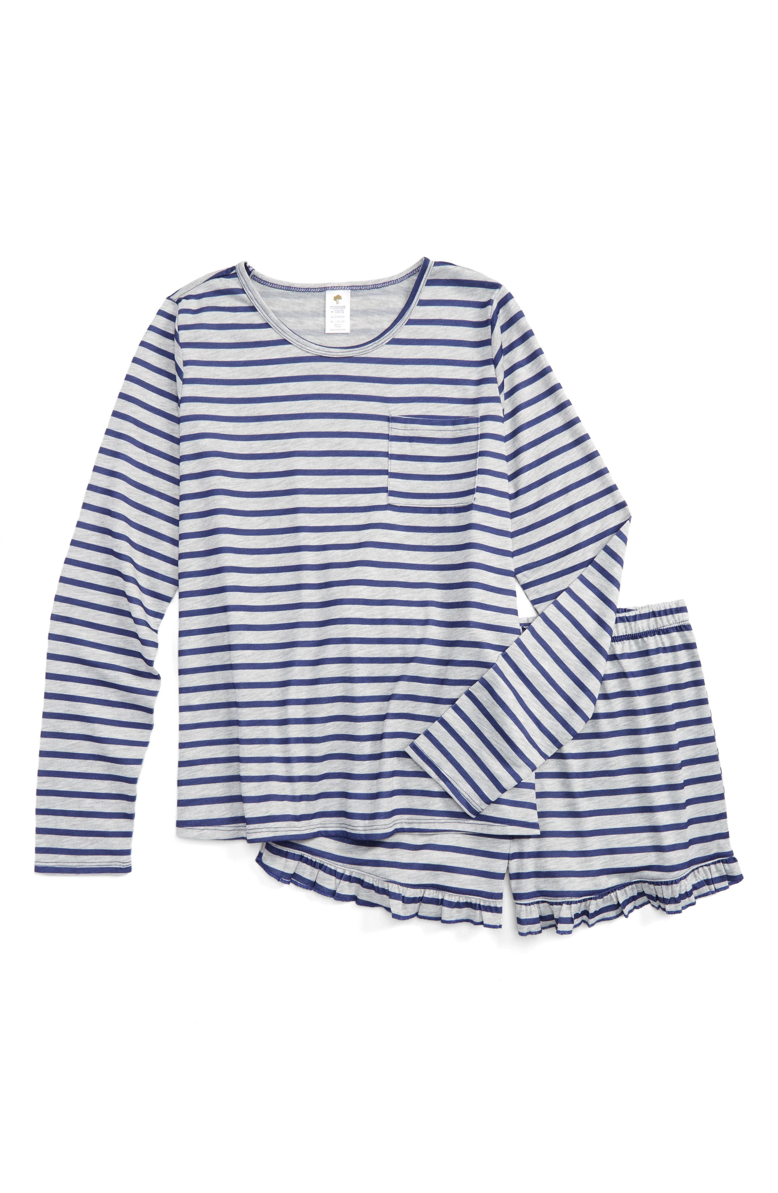 Tucker + Tate Stripe Two-Piece Pajamas (Big Girls)