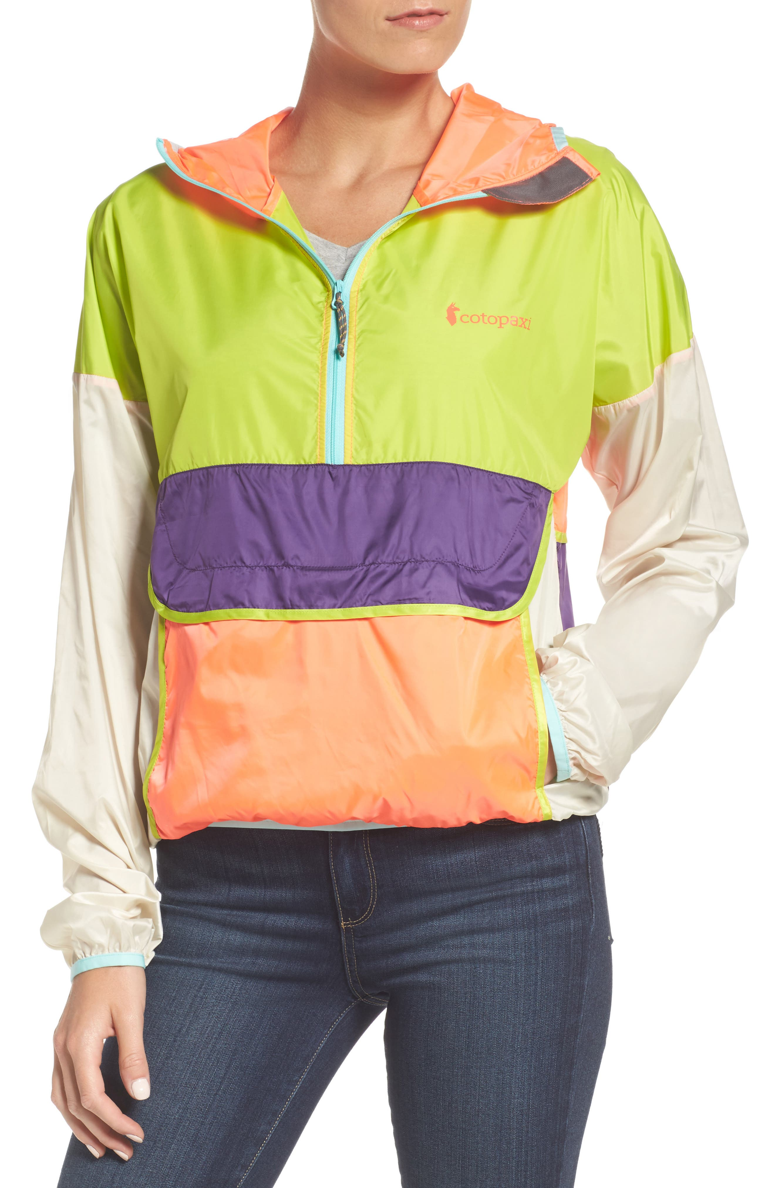 Cotopaxi Teca Packable Water Resistant Windbreaker Jacket