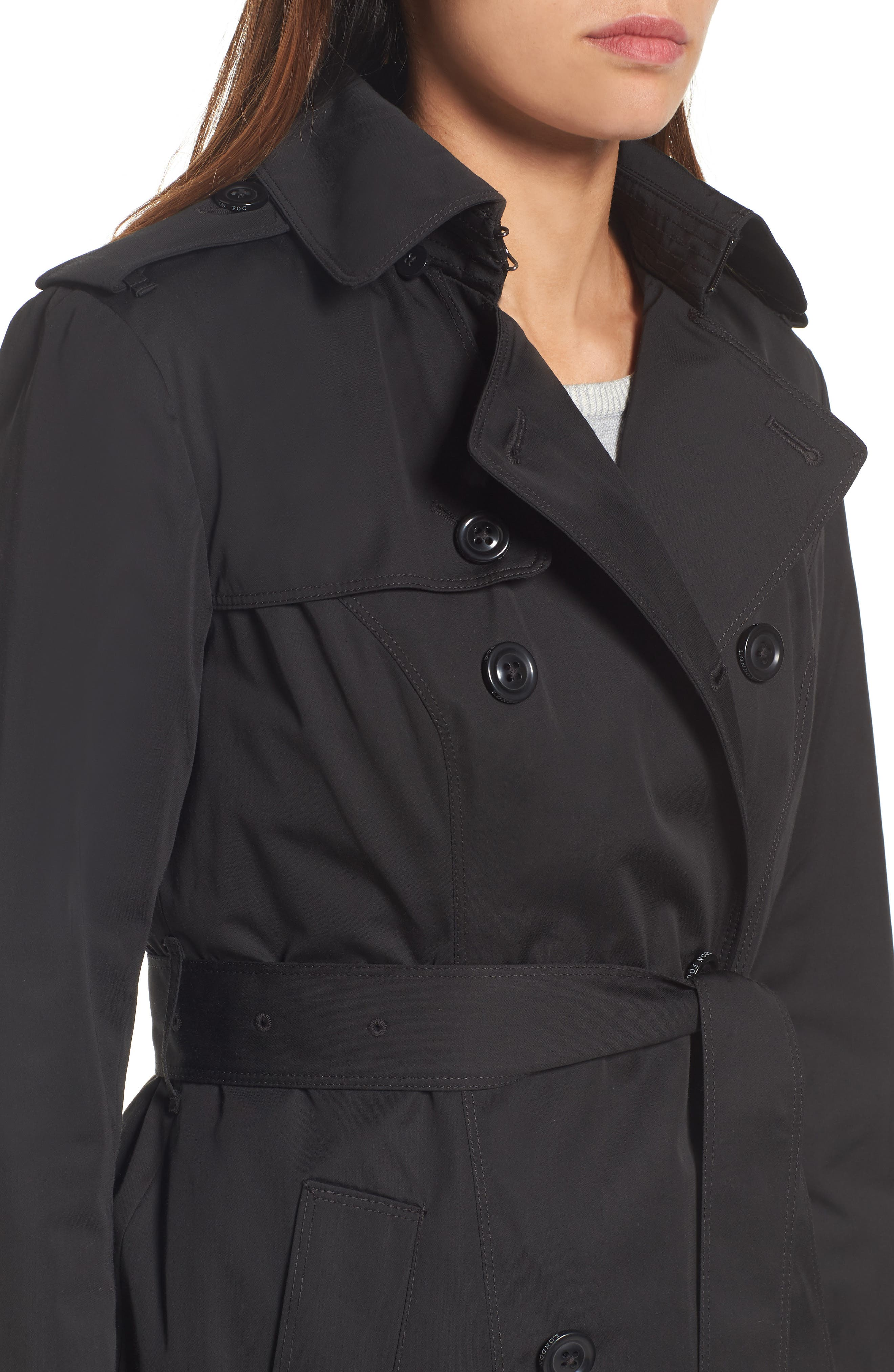 Heritage Trench Coat with Detachable Liner,                             Alternate thumbnail 3, color,                             Black