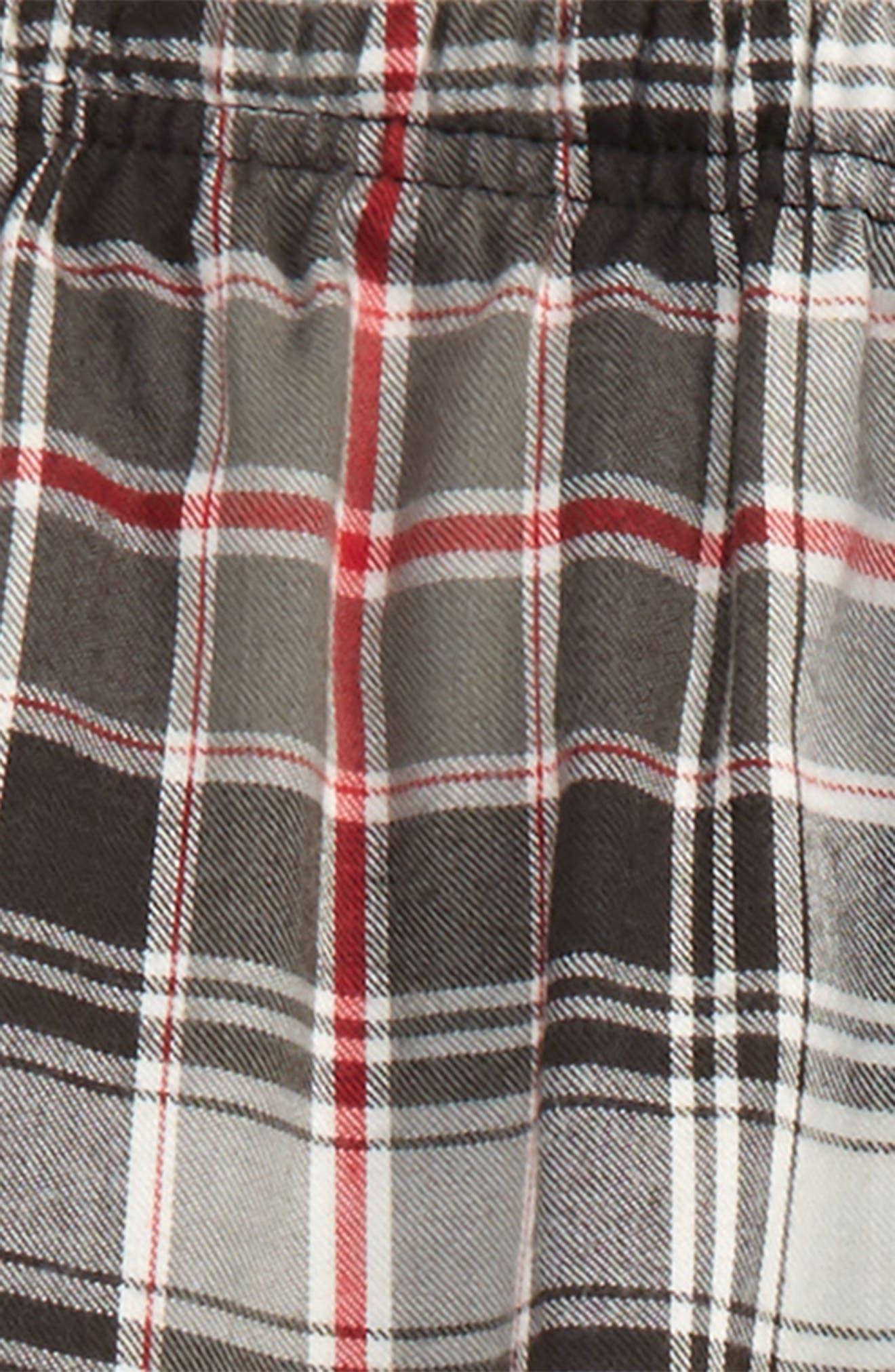 Flannel Jogger Pants,                             Alternate thumbnail 2, color,                             Black- Red