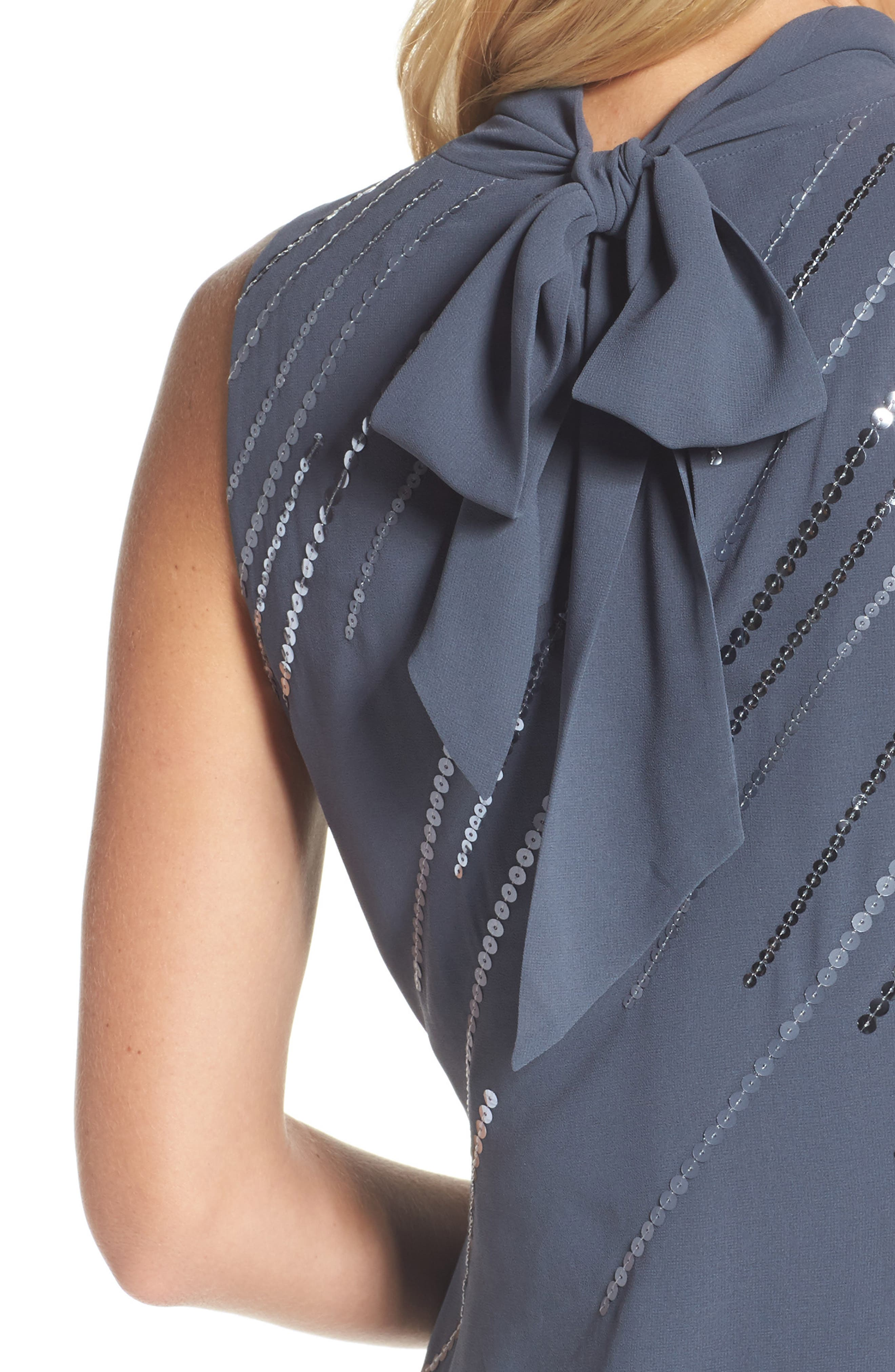 Sequin A-Line Dress,                             Alternate thumbnail 4, color,                             Typhoon