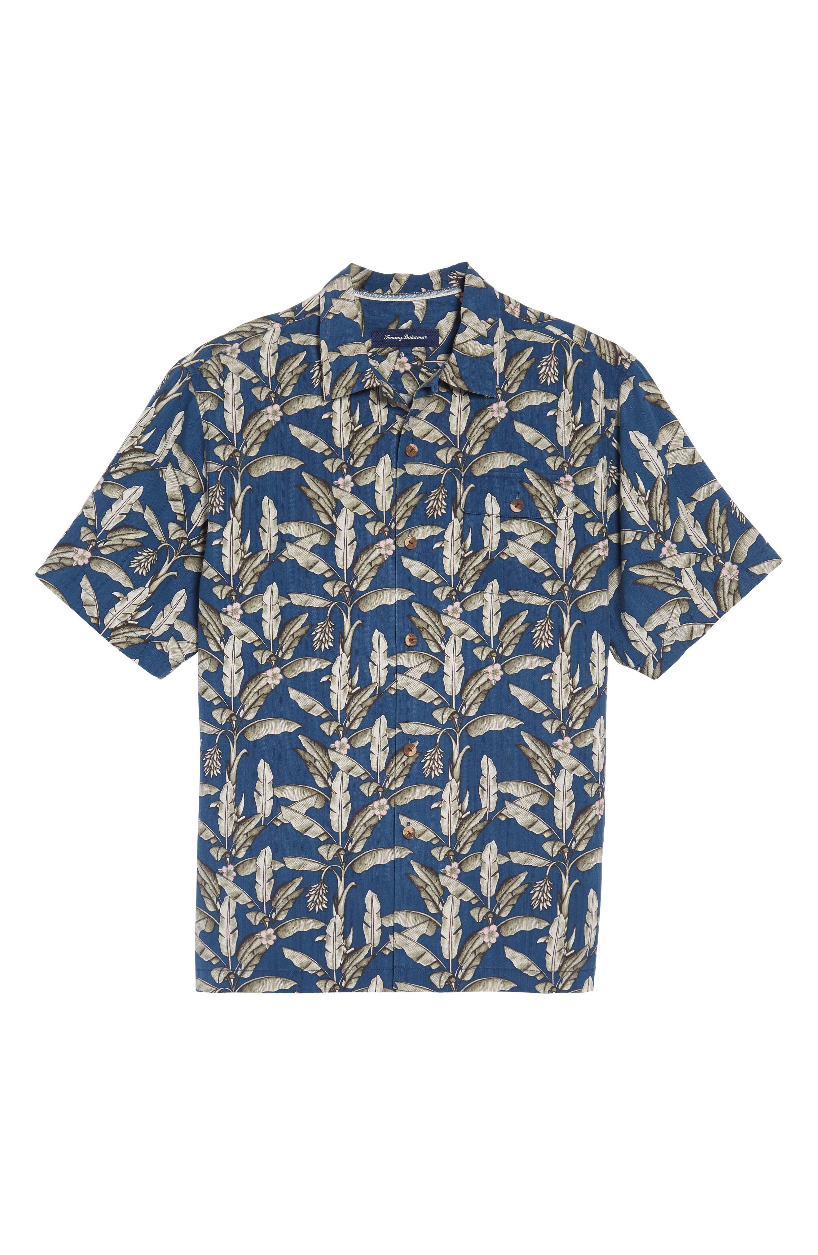 Alternate Image 6  - Tommy Bahama Sahara Fronds Silk Woven Shirt