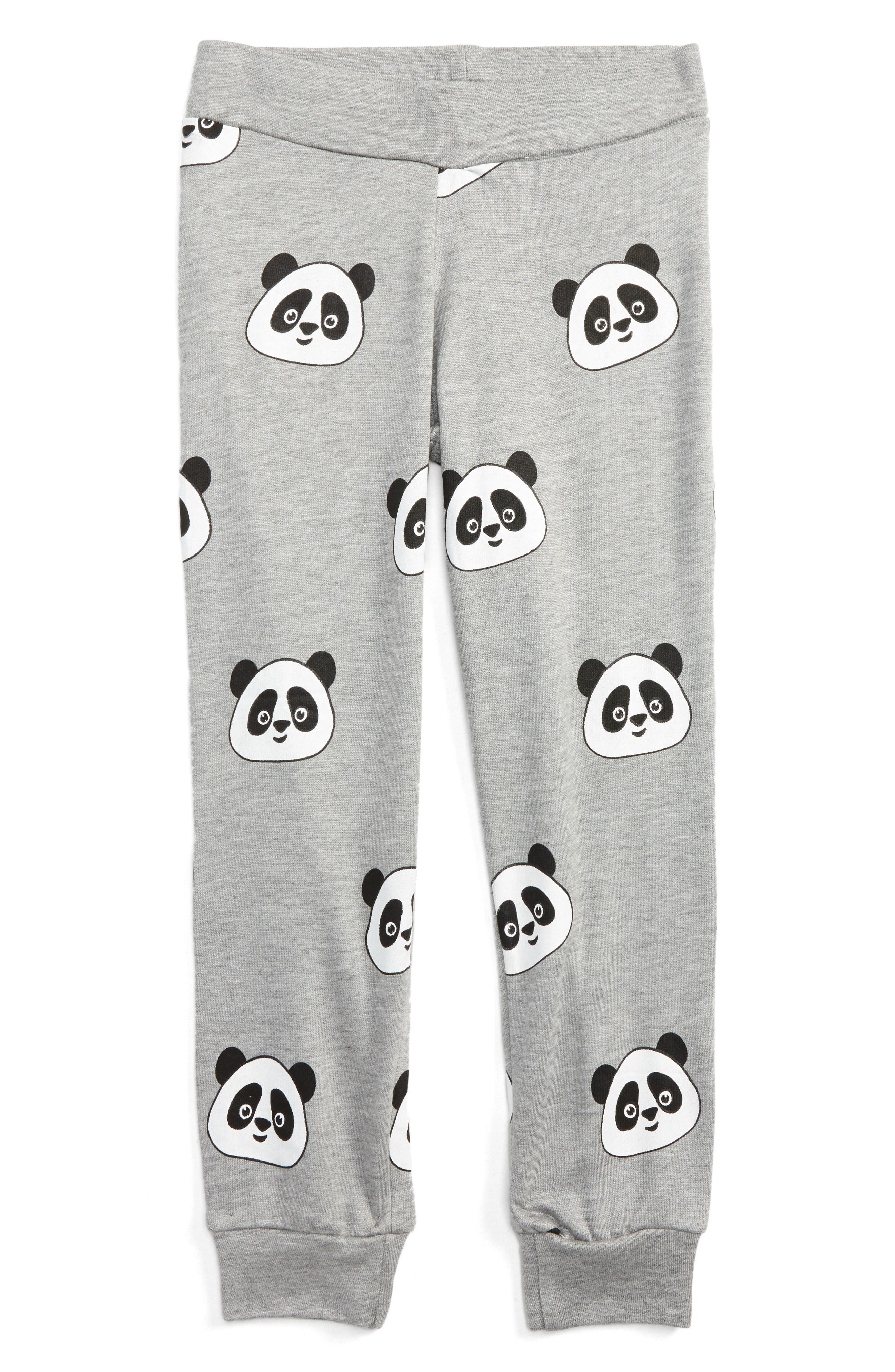 Main Image - Flowers by Zoe All Over Panda Sweatpants (Little Girls & Big Girls)