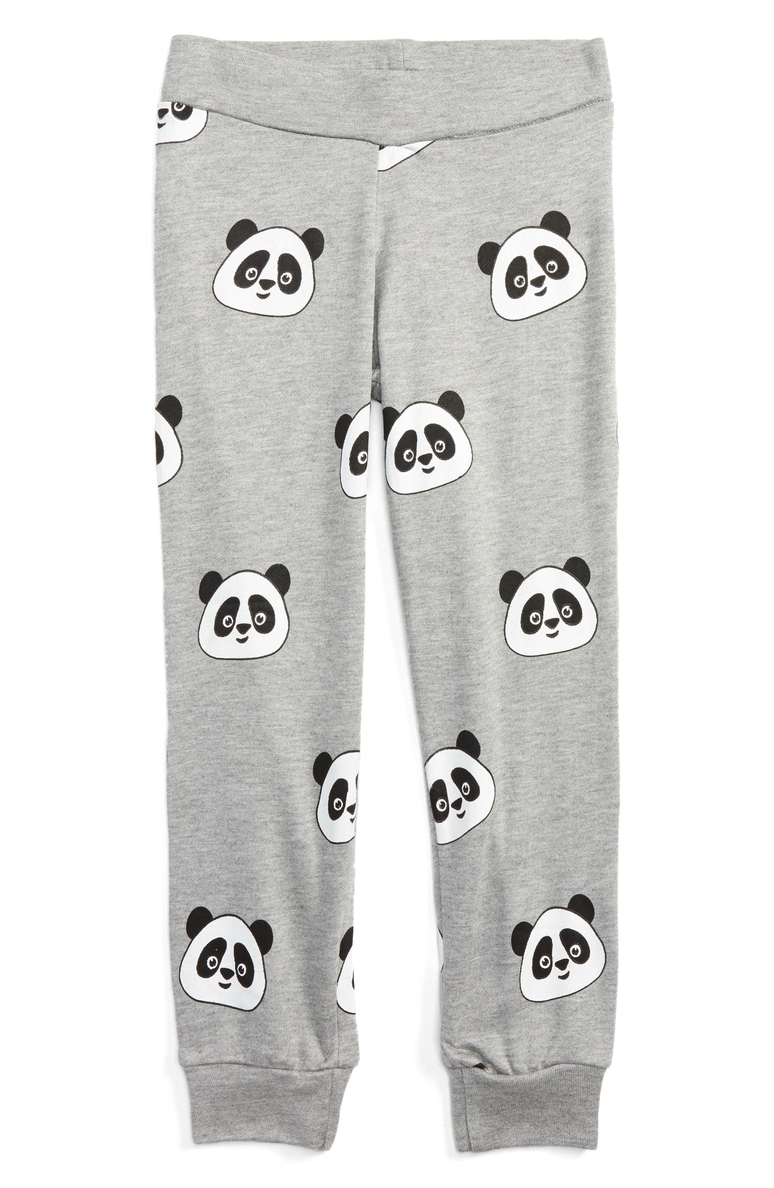Flowers by Zoe All Over Panda Sweatpants (Little Girls & Big Girls)