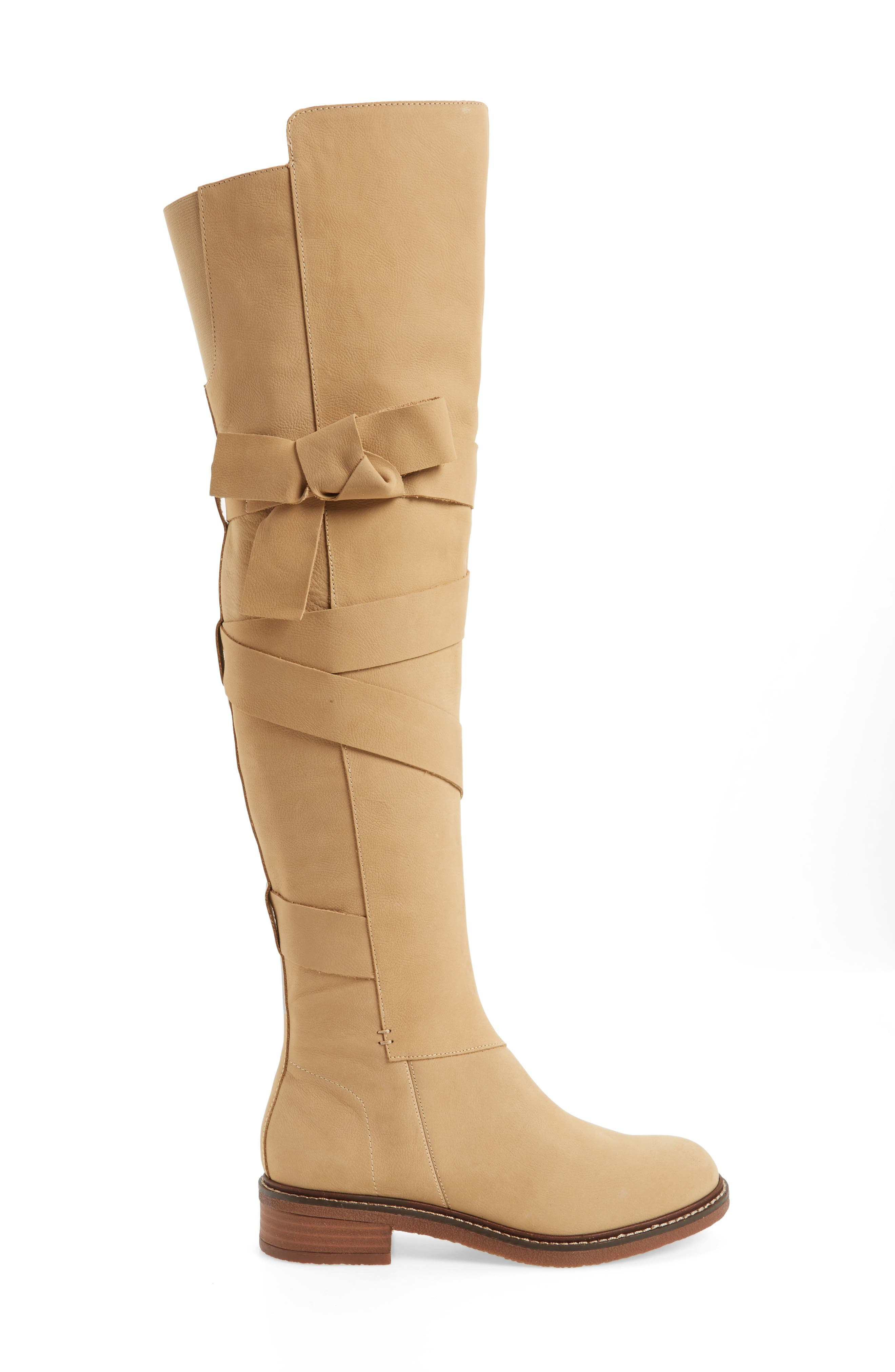 Colby Over the Knee Boot,                             Alternate thumbnail 3, color,                             Ginger
