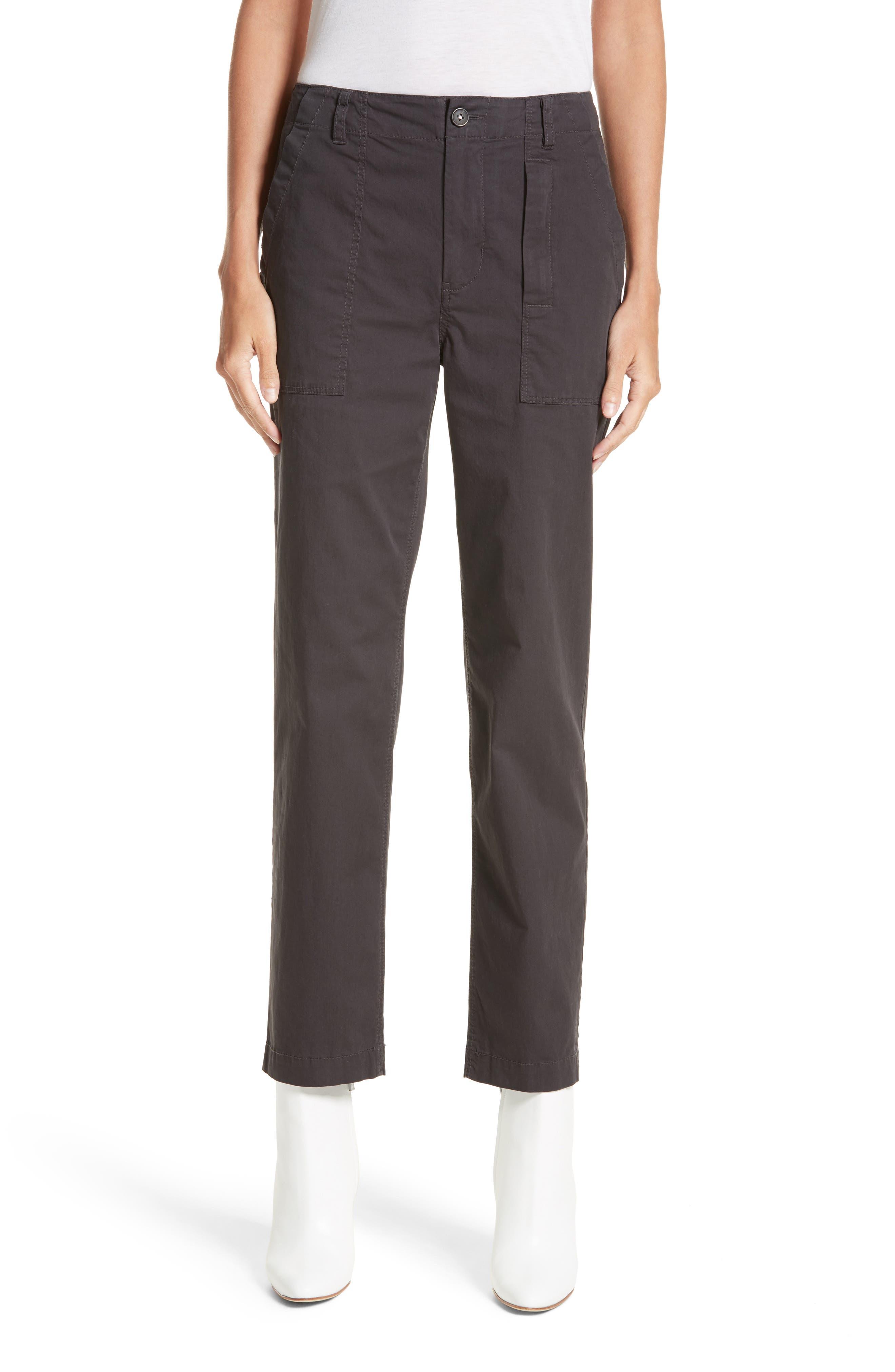 Florian High Waist Pants,                         Main,                         color, Washed Black