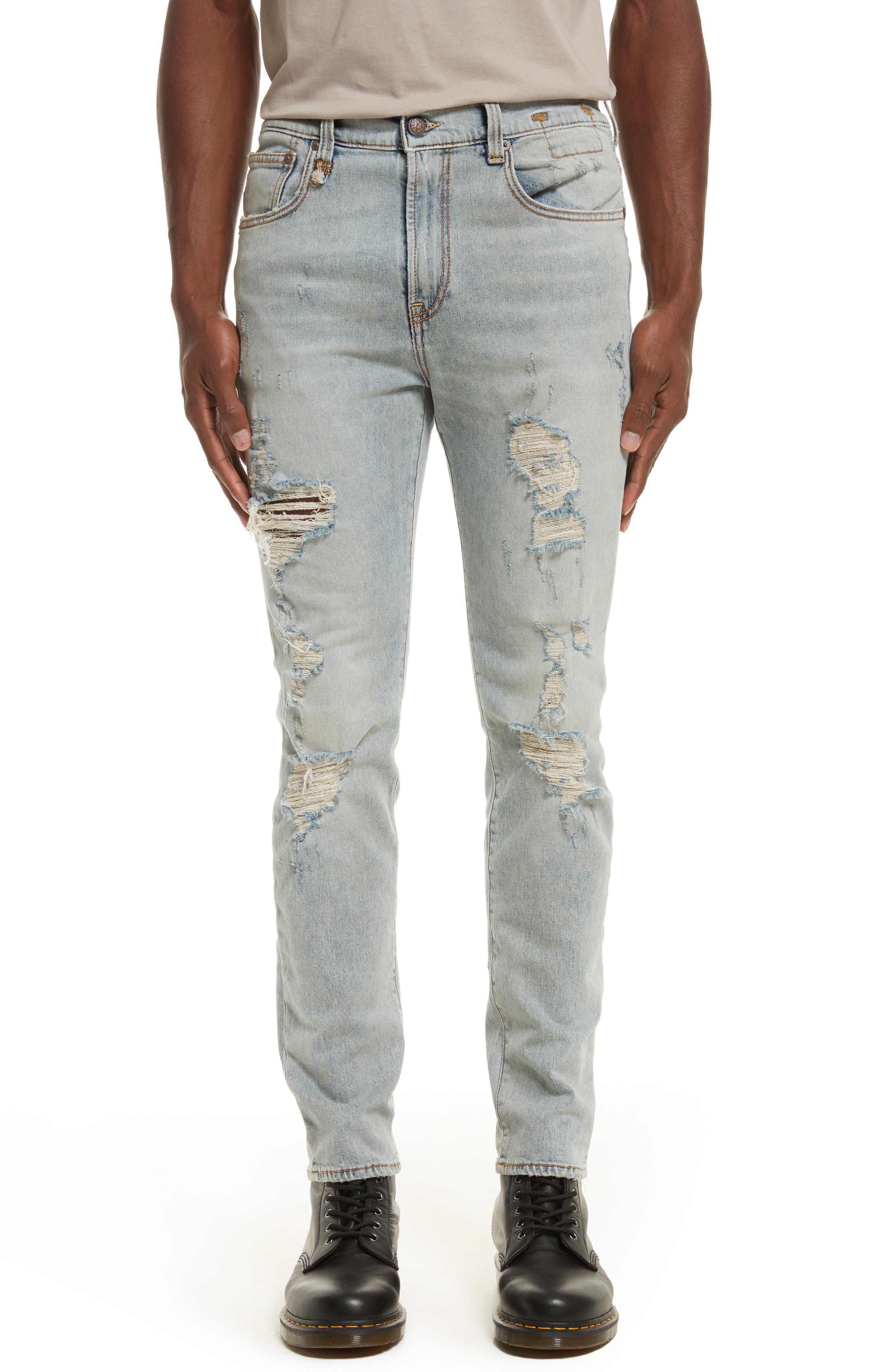 R13 Skate Destroyed Jeans