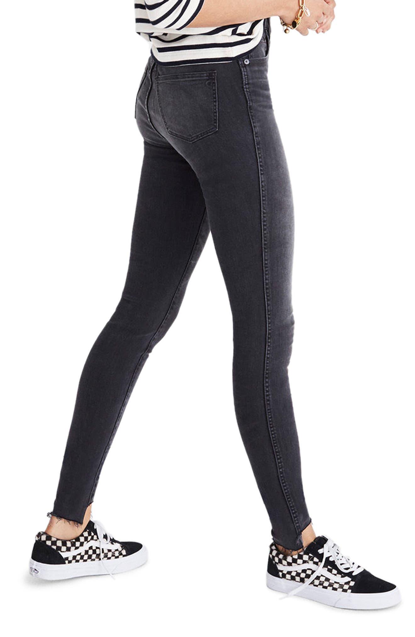 Alternate Image 3  - Madewell 10-Inch High Rise Step Hem Skinny Jeans (Slater Wash)