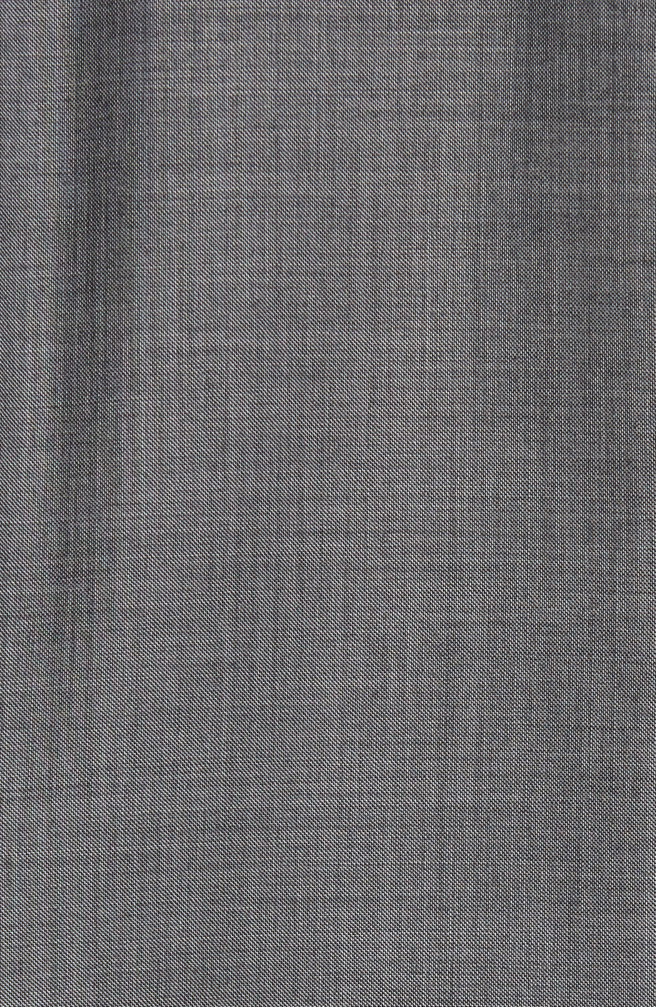 Classic Fit Solid Wool Suit,                             Alternate thumbnail 7, color,                             Med Grey