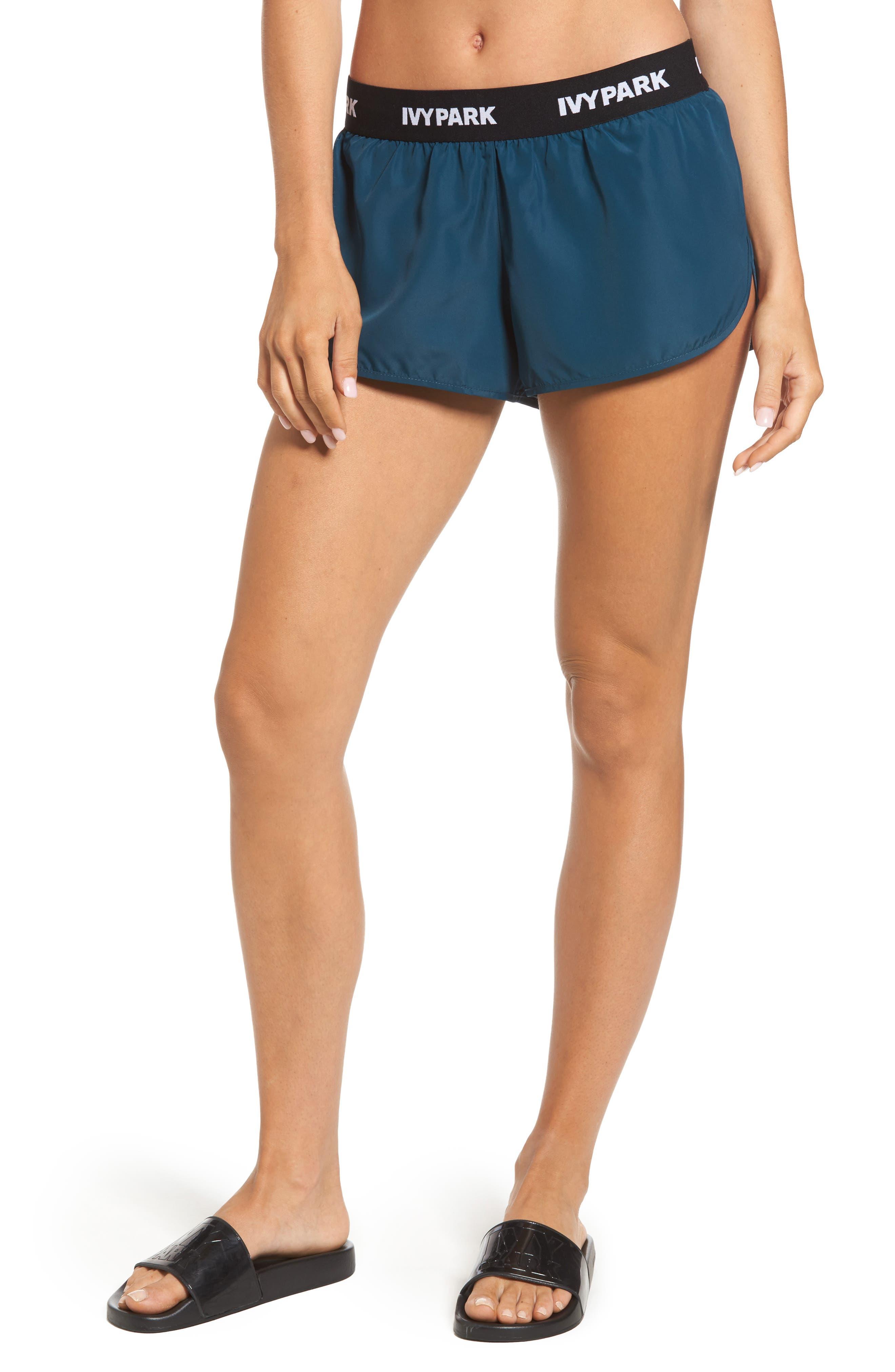 Main Image - IVY PARK® Logo Elastic Runner Shorts