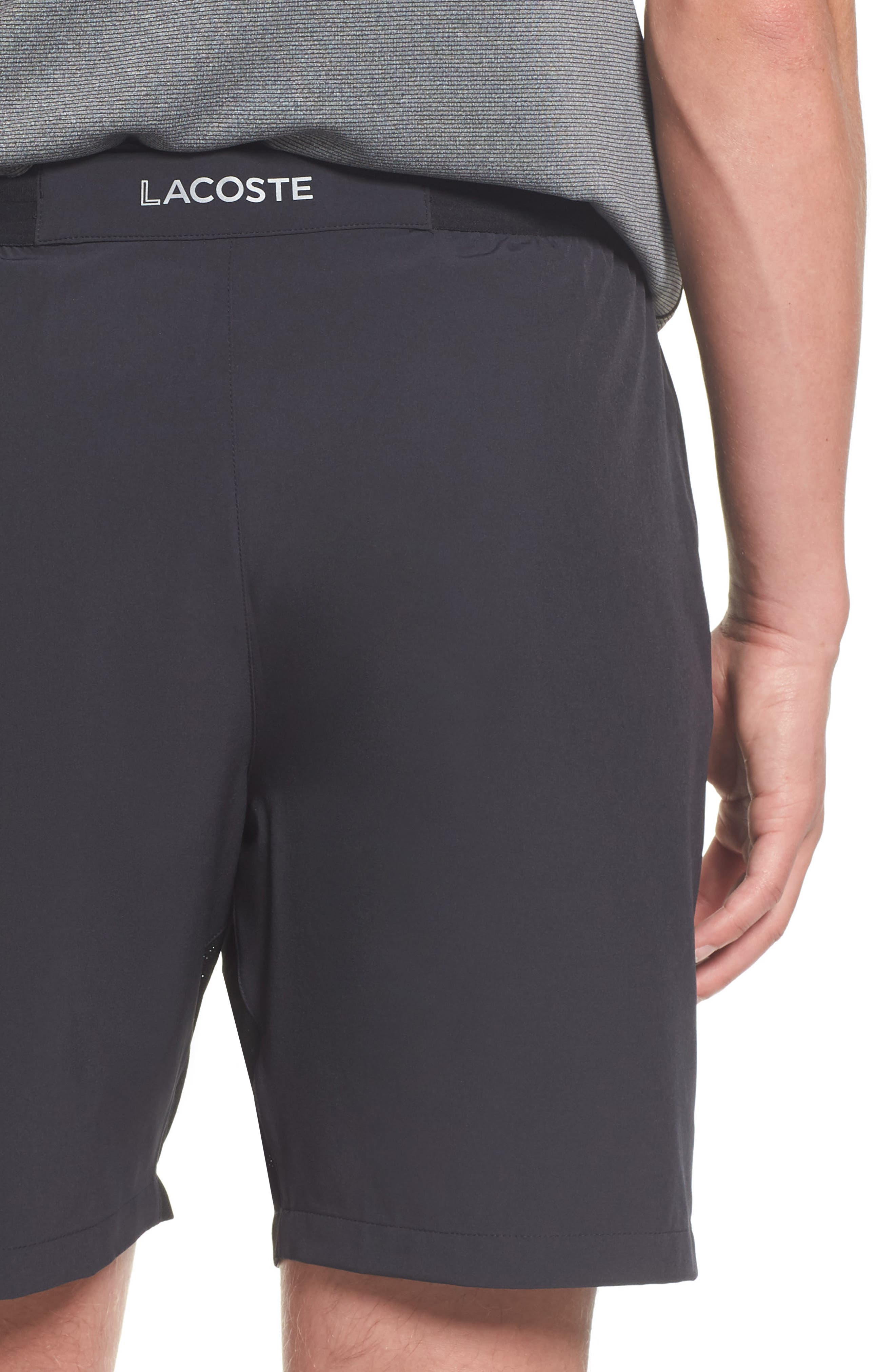 Stretch Sport Shorts,                             Alternate thumbnail 4, color,                             Black