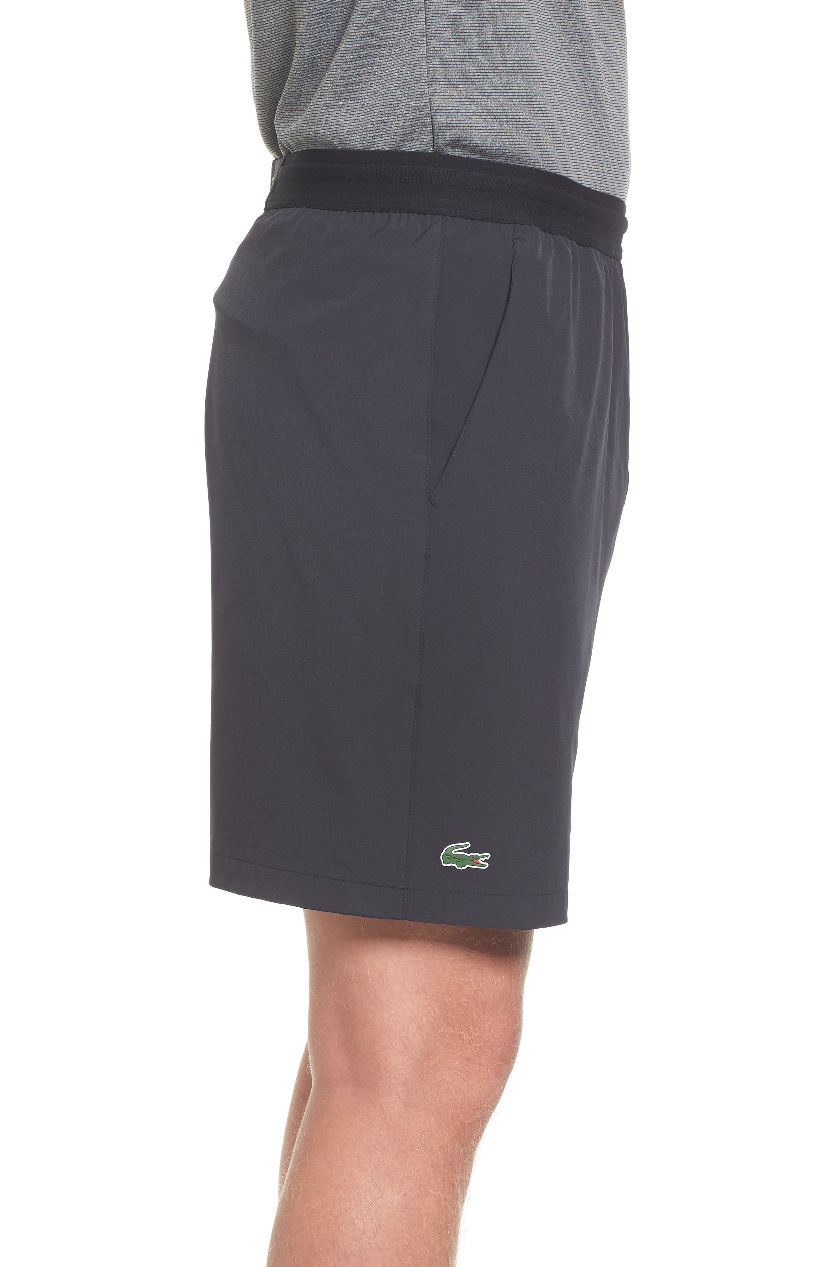 Stretch Sport Shorts,                             Alternate thumbnail 3, color,                             Black