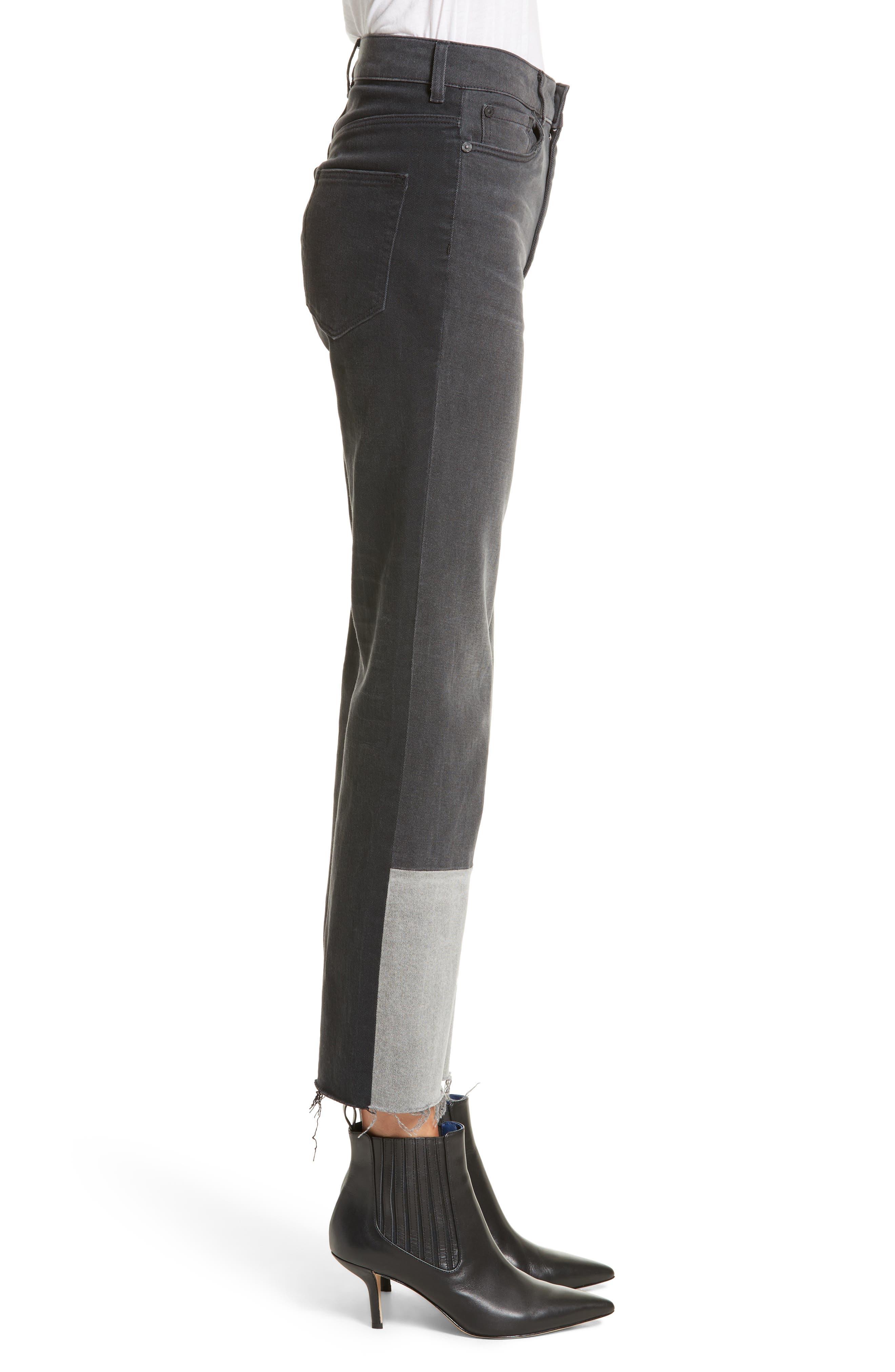 Alternate Image 4  - La Vie Rebecca Taylor Patch Jeans