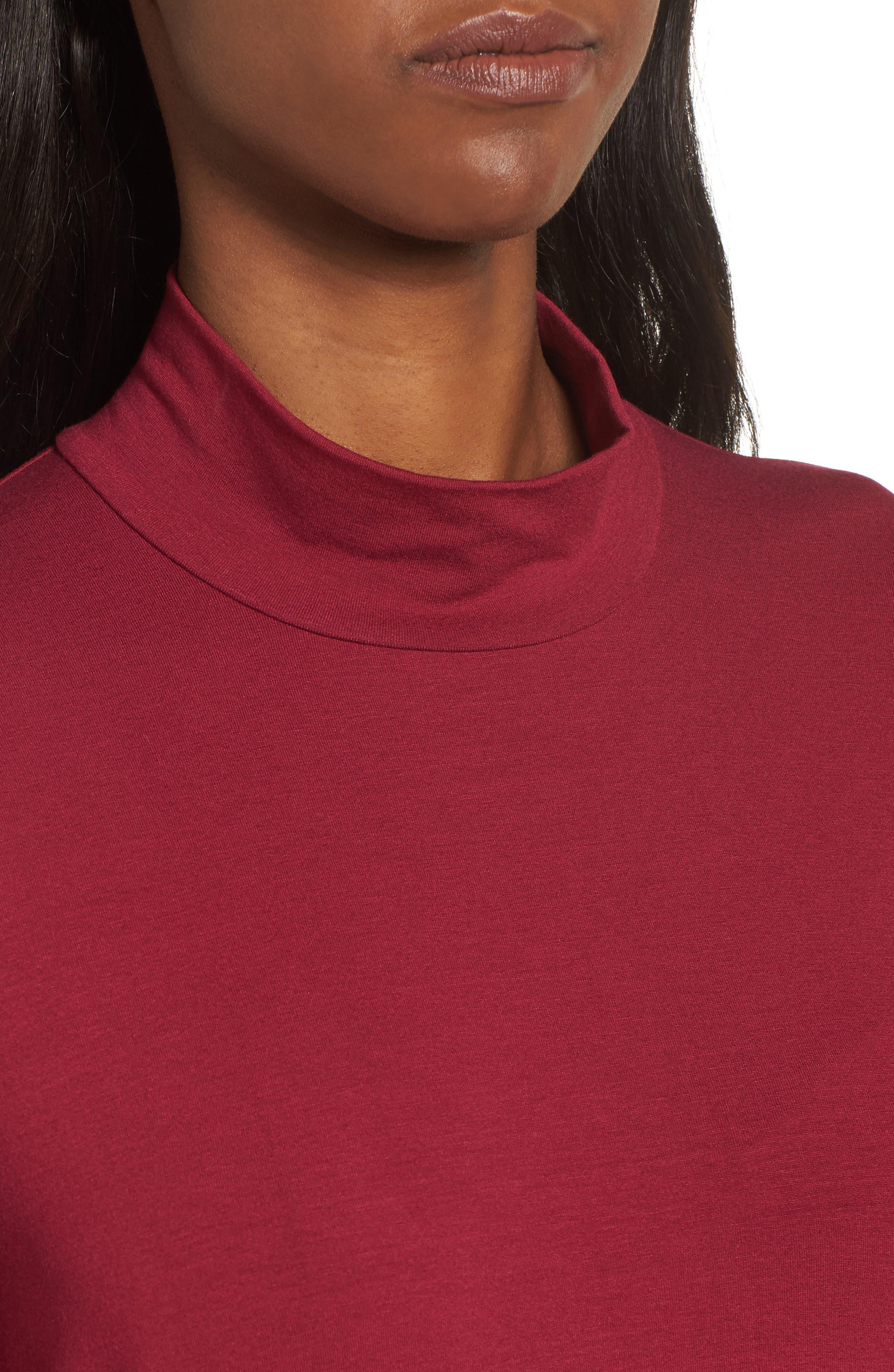 Alternate Image 4  - Eileen Fisher Mock Neck Shift Dress