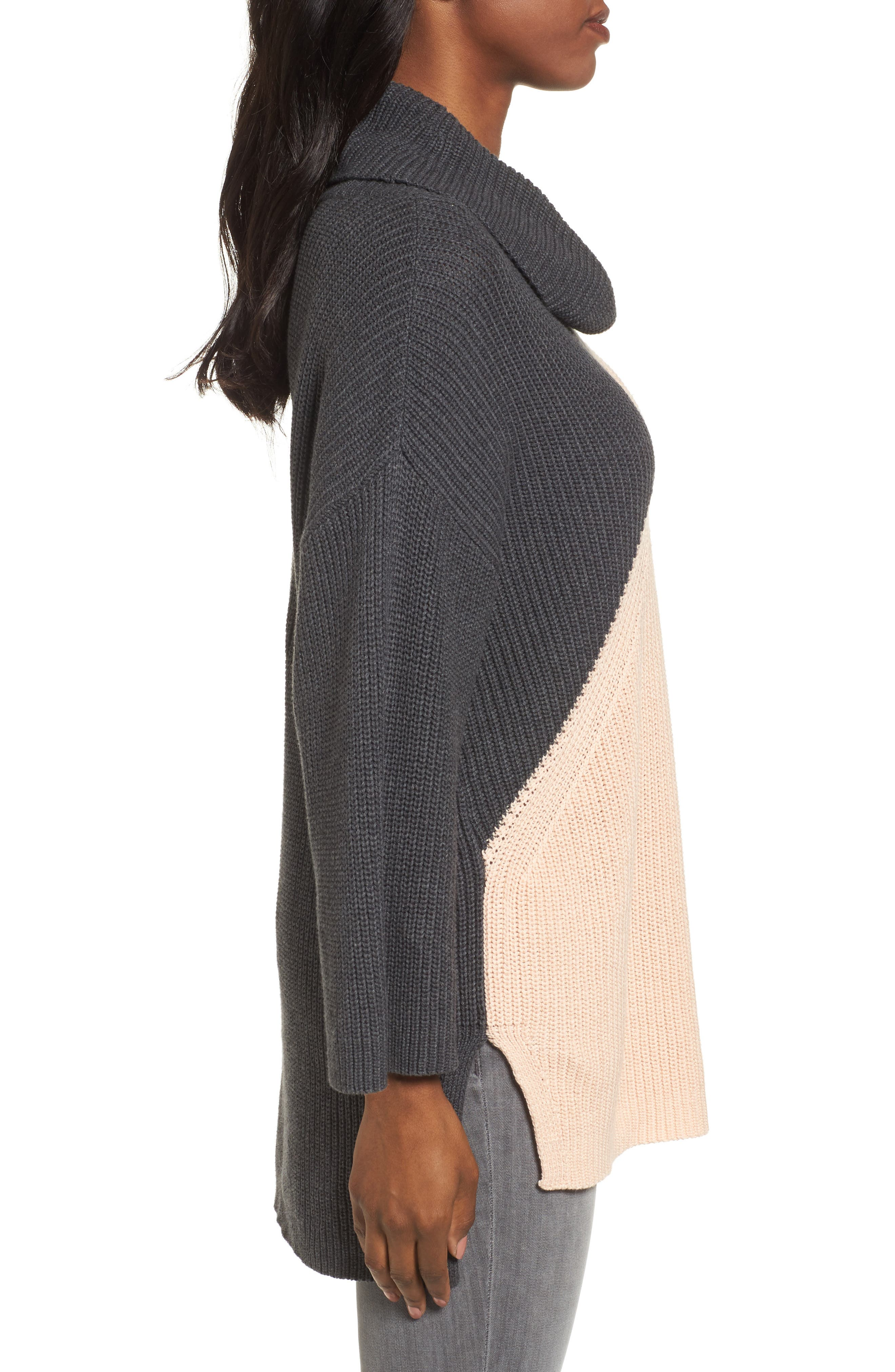Alternate Image 3  - Chaus Colorblock Cowl Neck Sweater