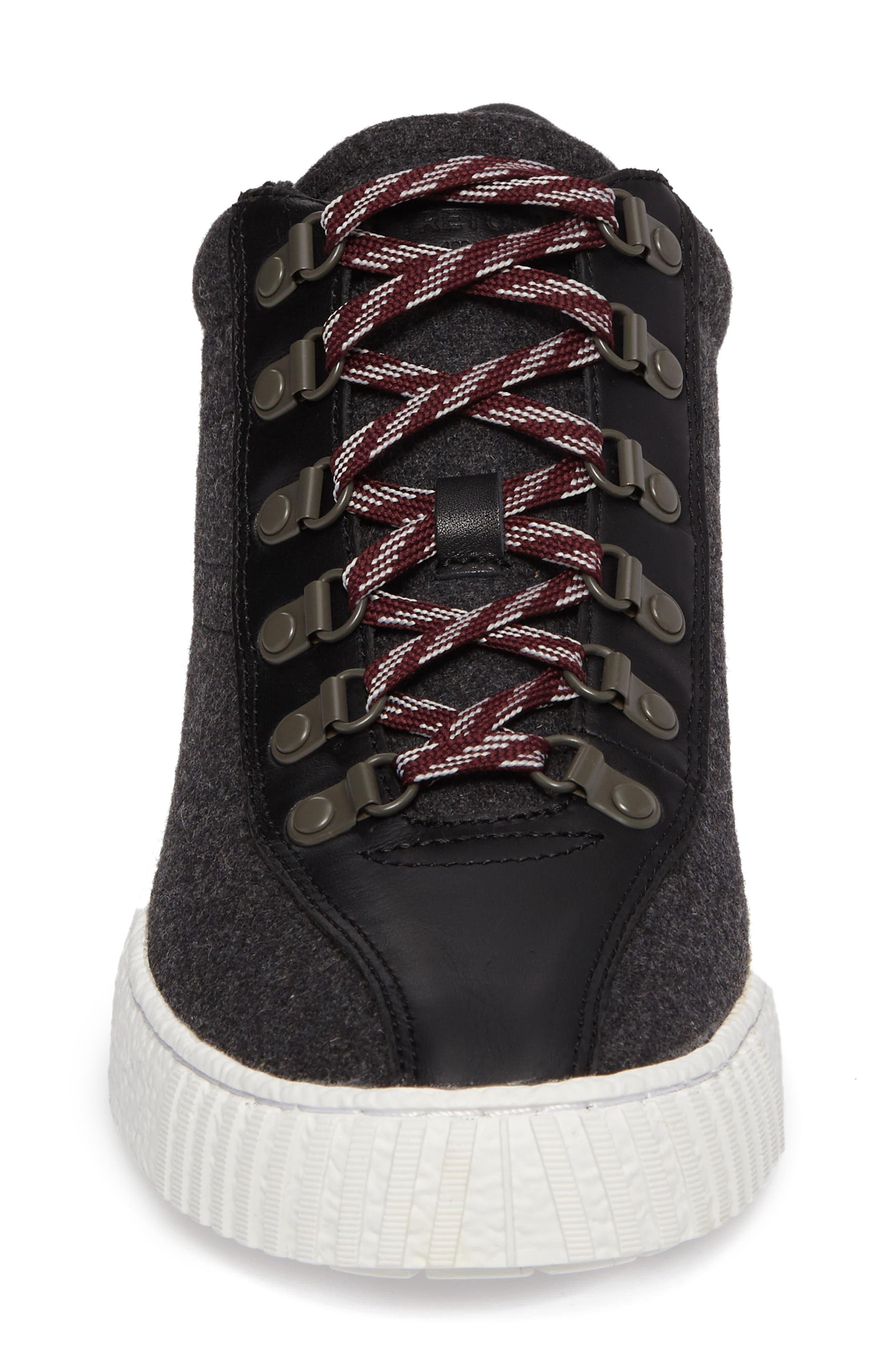 Dante Sneaker,                             Alternate thumbnail 4, color,                             Dark Grey/ Black