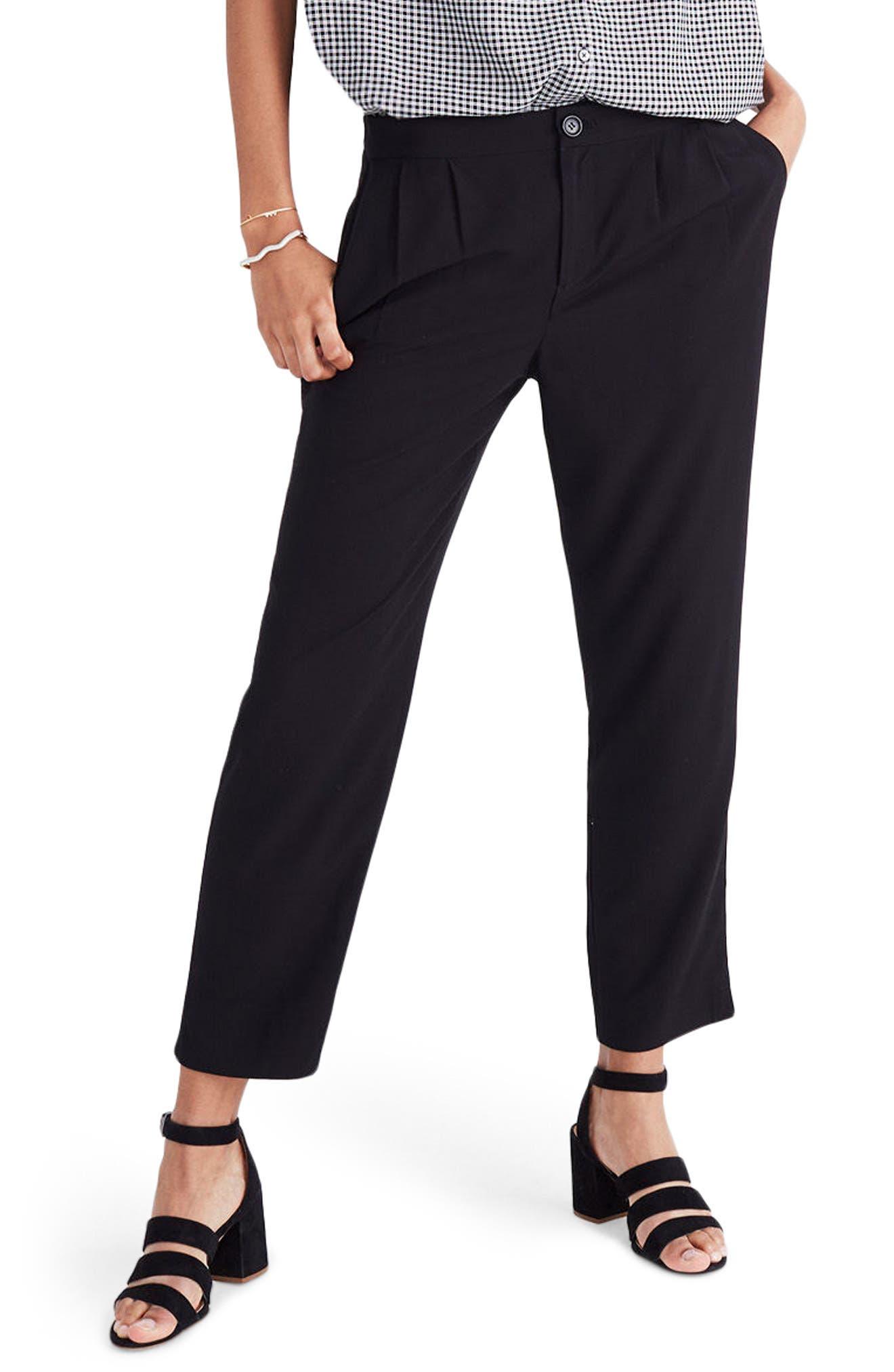 Main Image - Madewell High Waist Crop Track Trousers