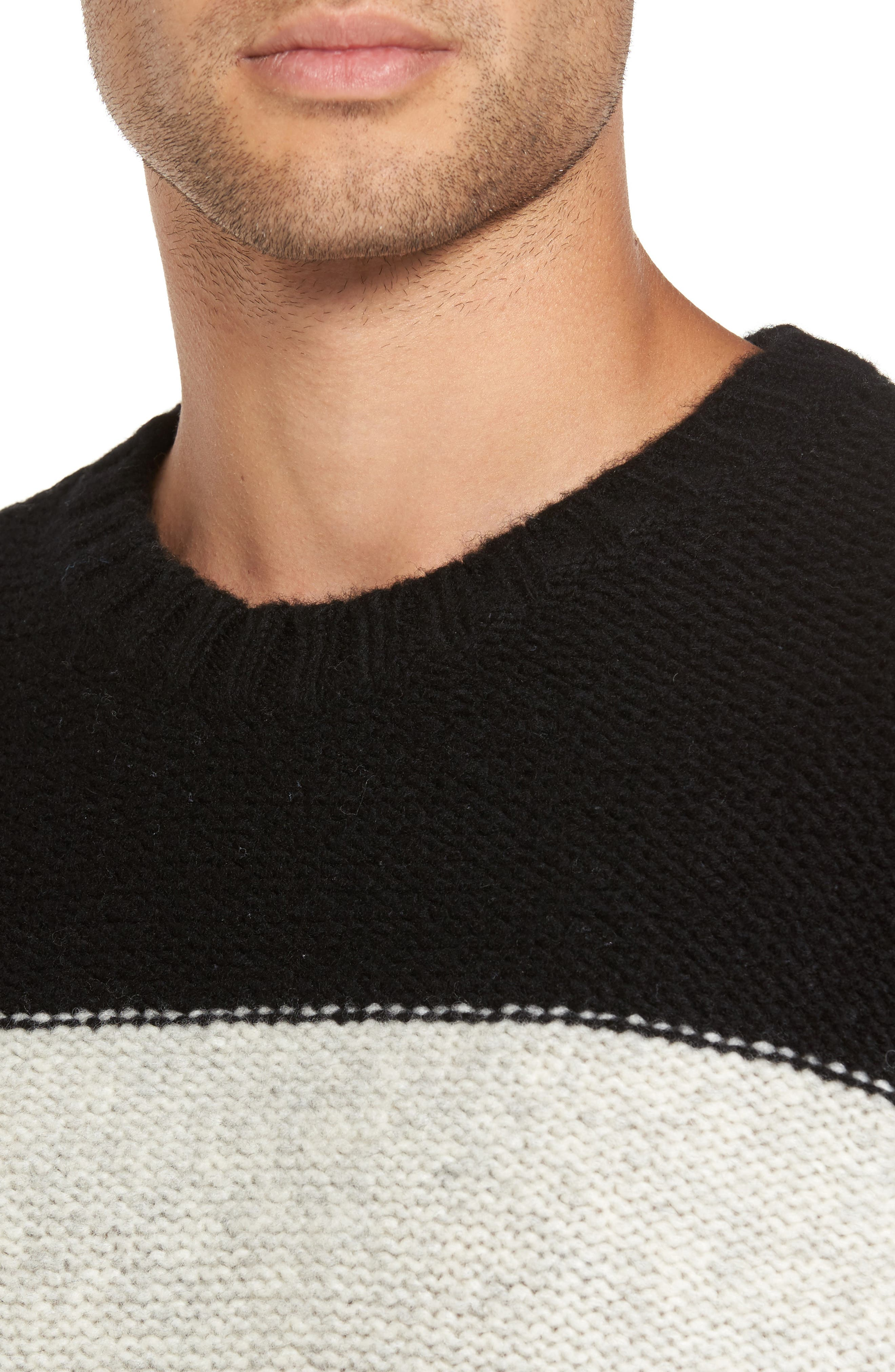 Blume Sweater,                             Alternate thumbnail 4, color,                             Black Boom
