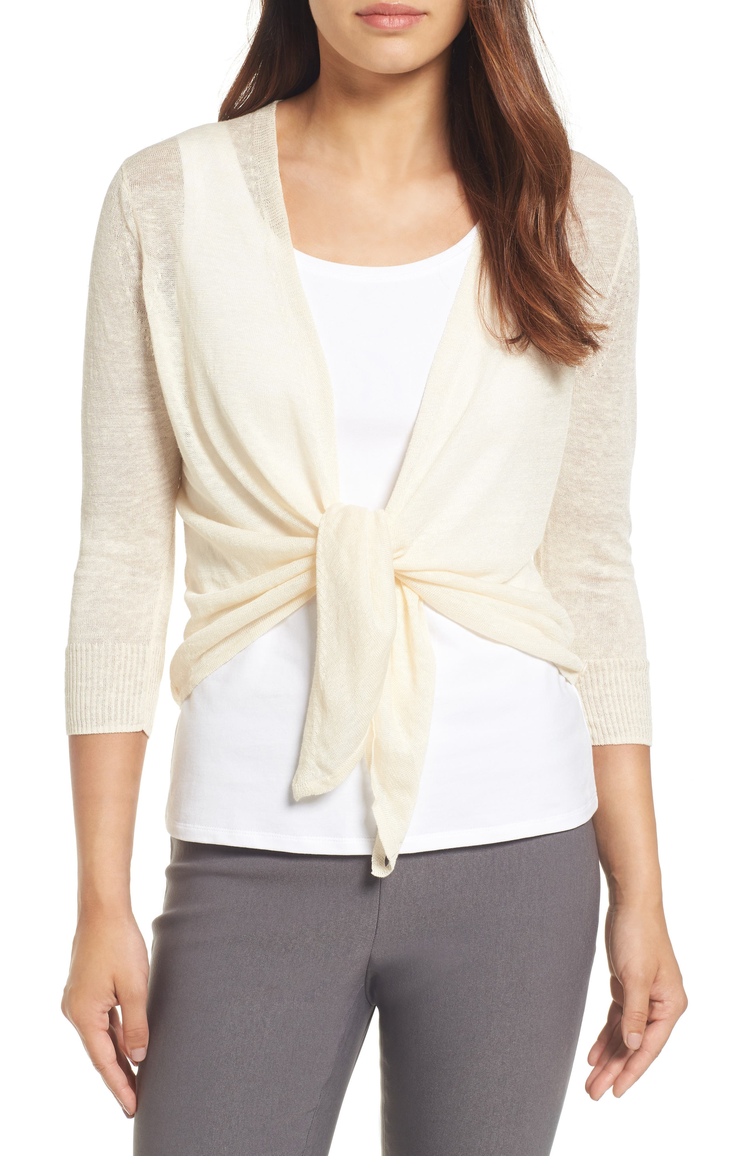 Alternate Image 3  - NIC+ZOE 4-Way Convertible Three Quarter Sleeve Cardigan (Regular and Petite)