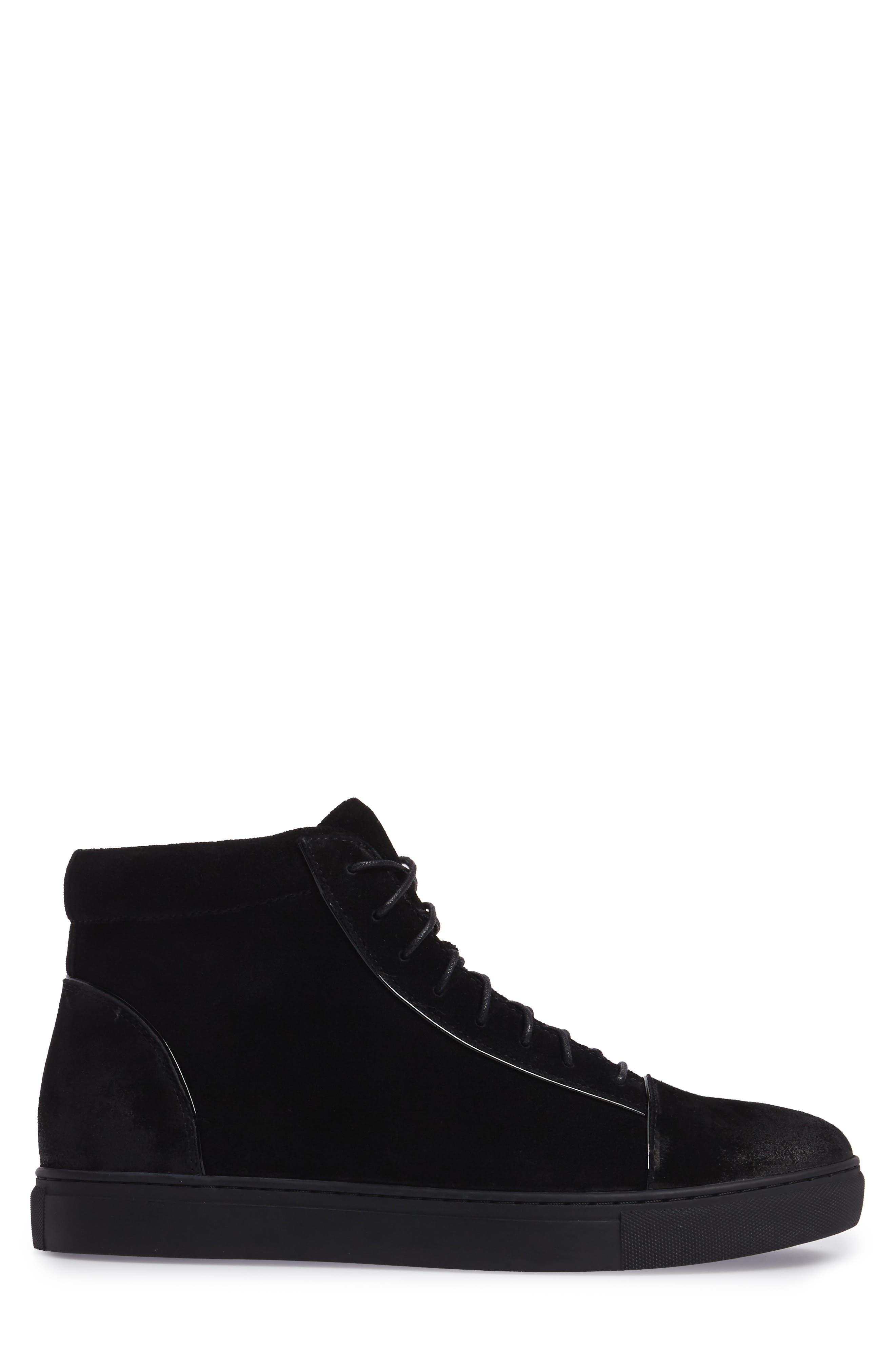 Grundy Sneaker,                             Alternate thumbnail 3, color,                             Black Suede