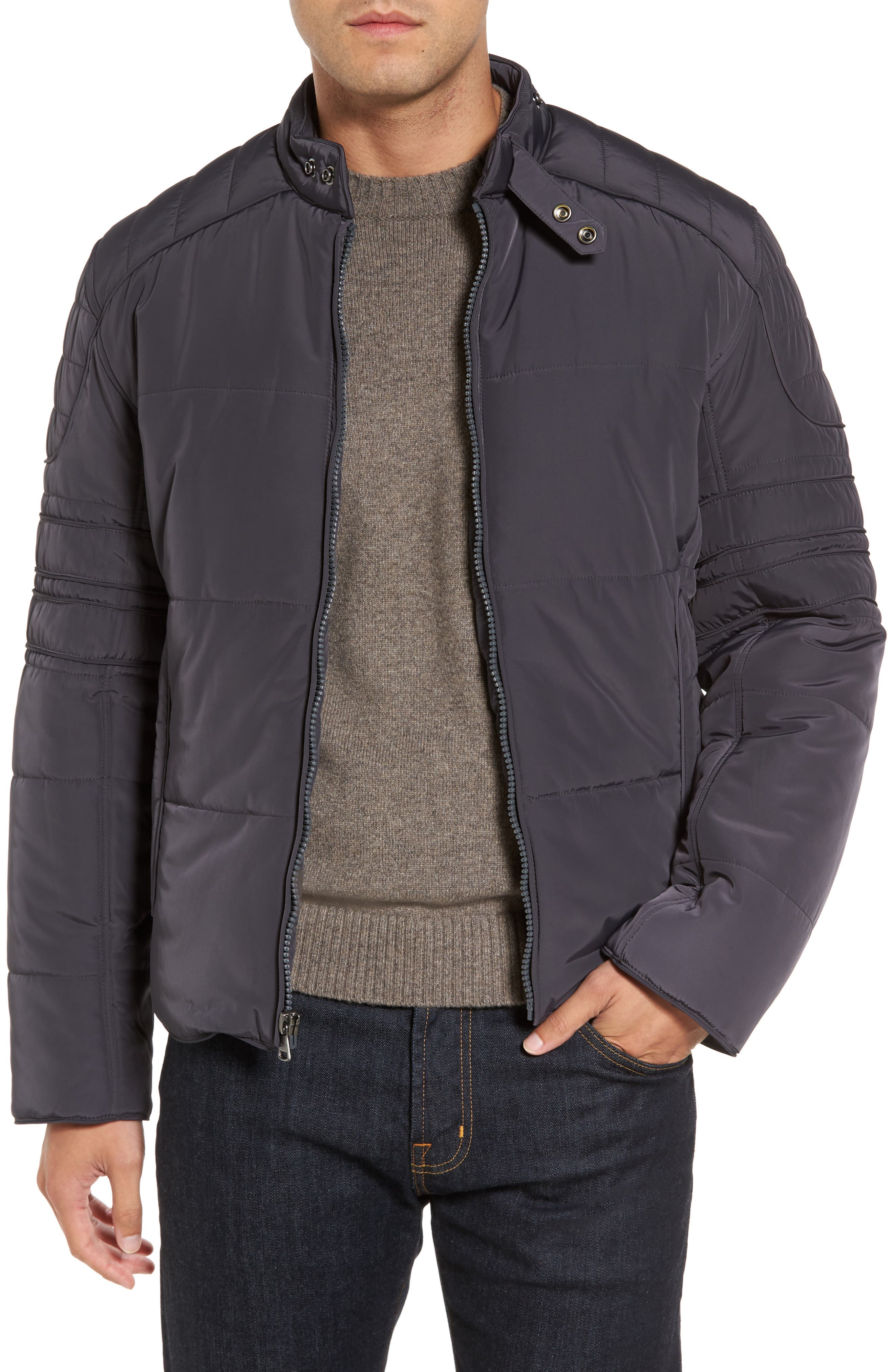 Main Image - Marc New York Quilted Moto Jacket