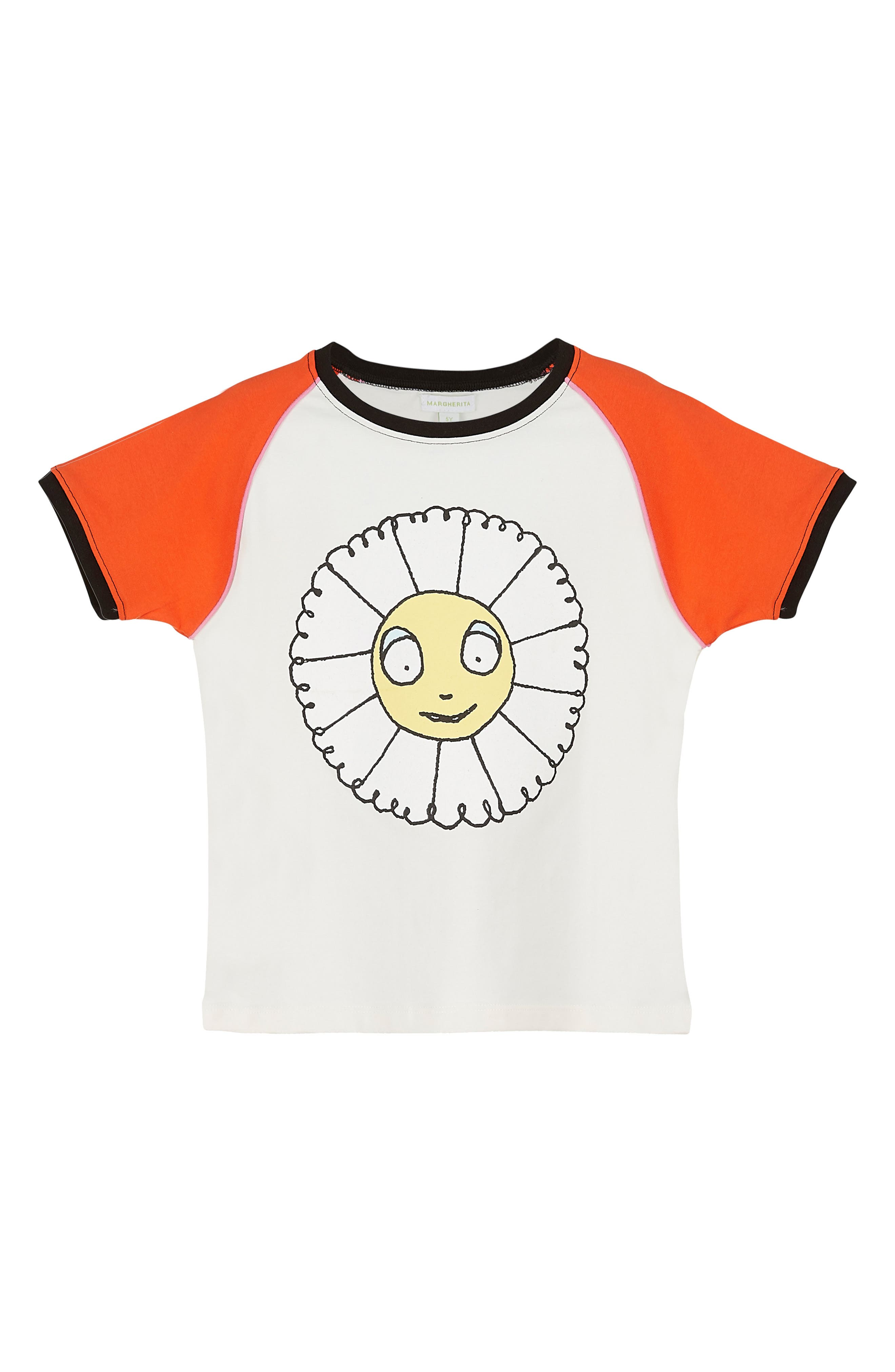 Main Image - Margherita Daisy Graphic Tee (Baby Girls)