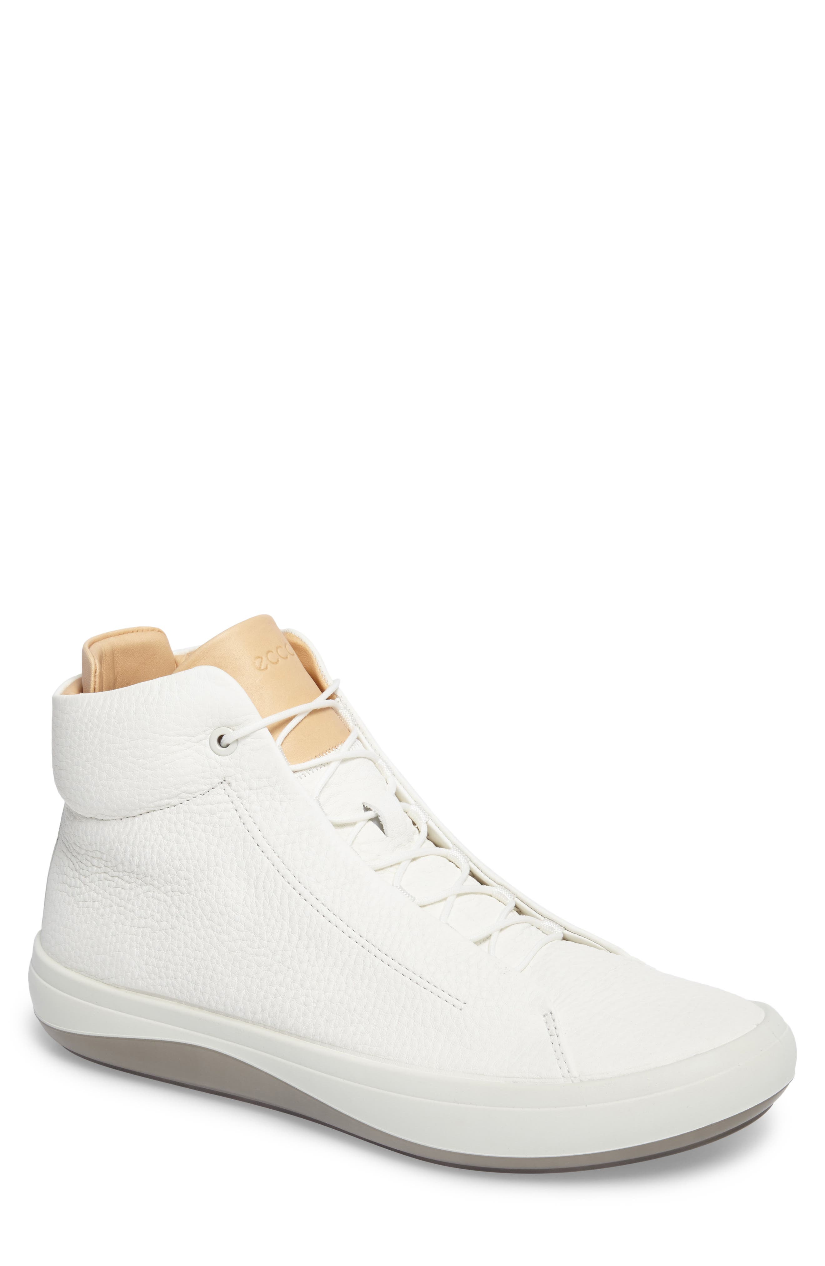 Kinhin Mid Sneaker,                             Main thumbnail 1, color,                             White Leather