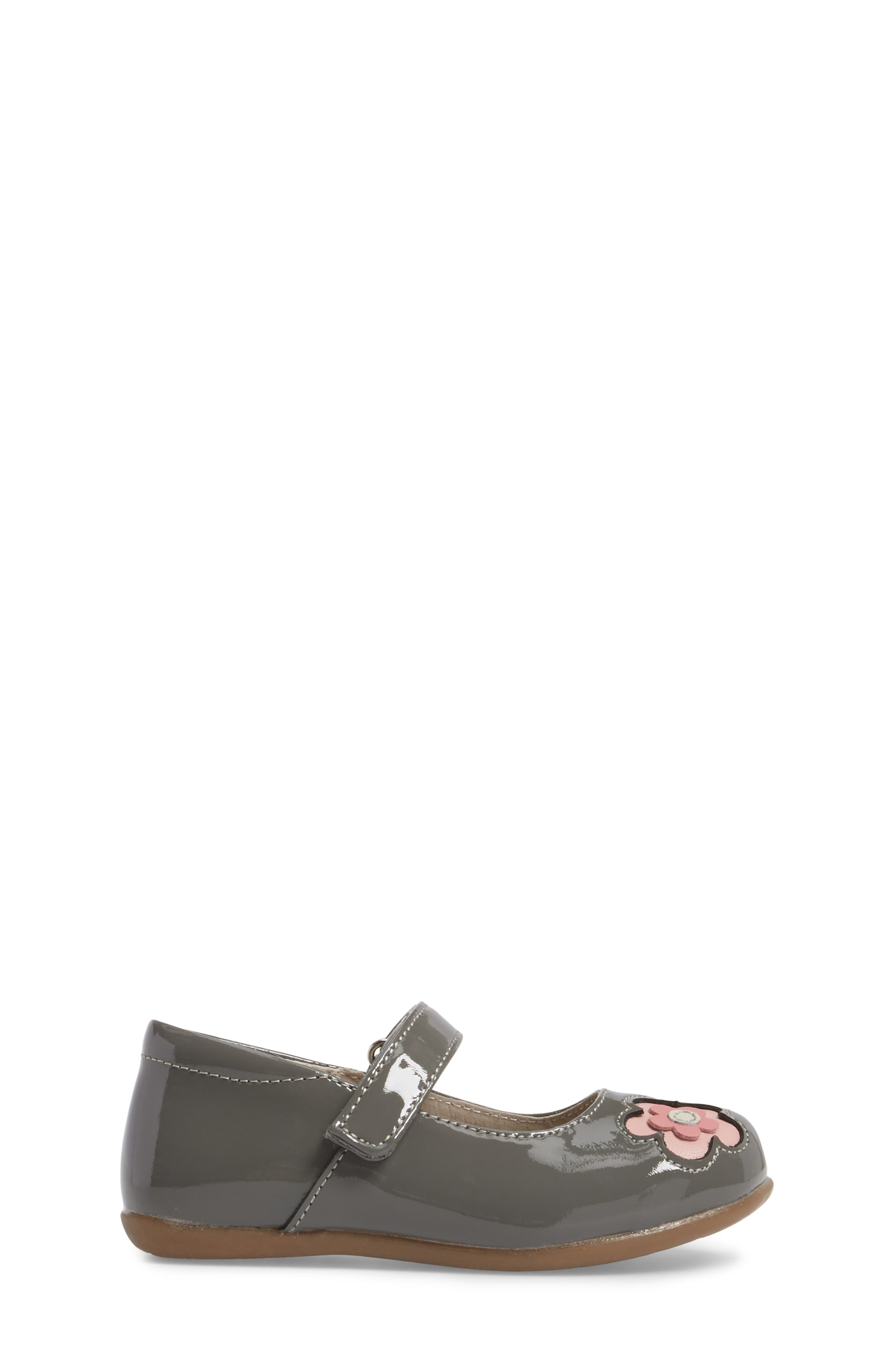 Stella Mary Jane Flat,                             Alternate thumbnail 3, color,                             Grey Patent