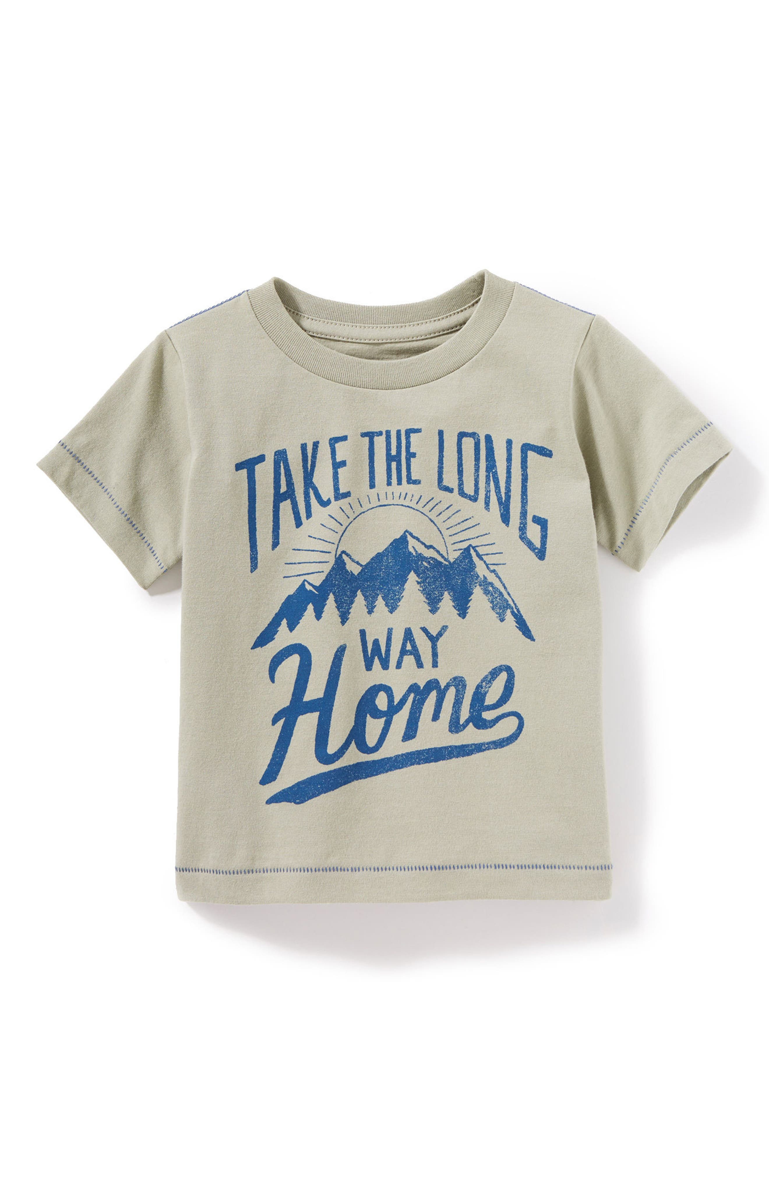 Take the Long Way Home Graphic T-Shirt,                         Main,                         color, Olive