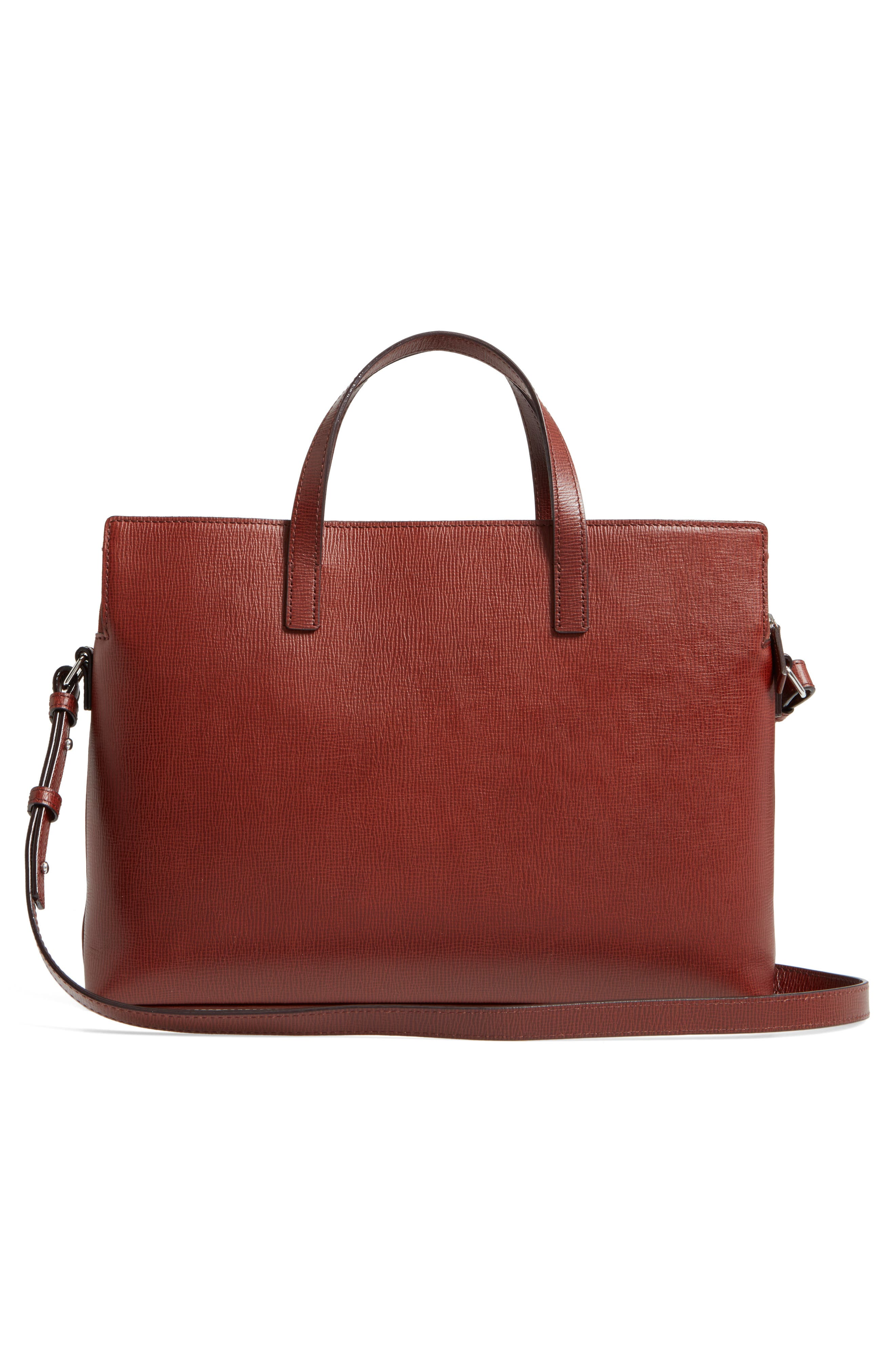 Business Chic Judith RFID-Protected Leather Laptop Briefcase,                             Alternate thumbnail 3, color,                             Russet