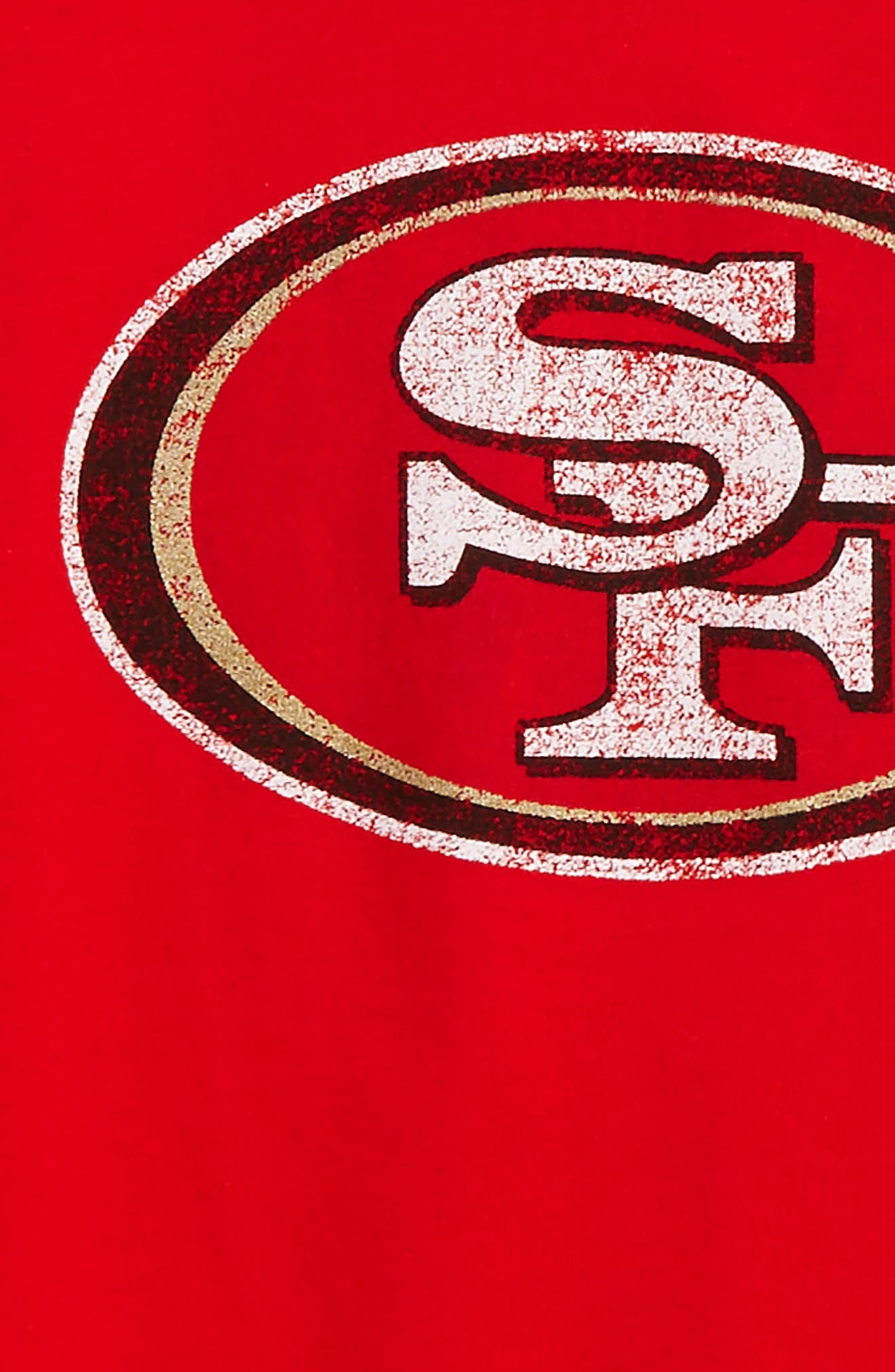 Alternate Image 2  - Outerstuff NFL - San Francisco 49ers Distressed Logo T-Shirt (Baby Boys, Toddler Boys & Little Boys)