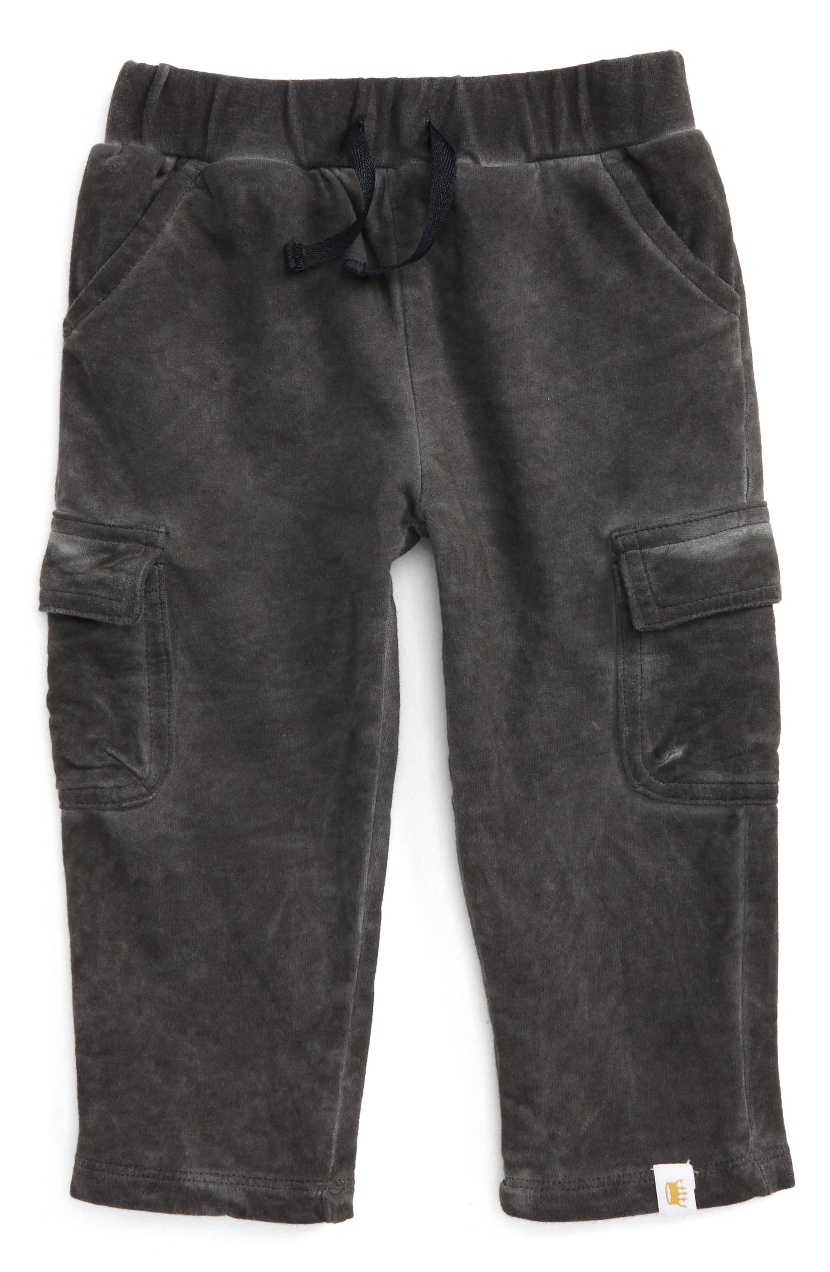 Alternate Image 1 Selected - Rosie Pope Fleece Cargo Pants (Baby Boys)