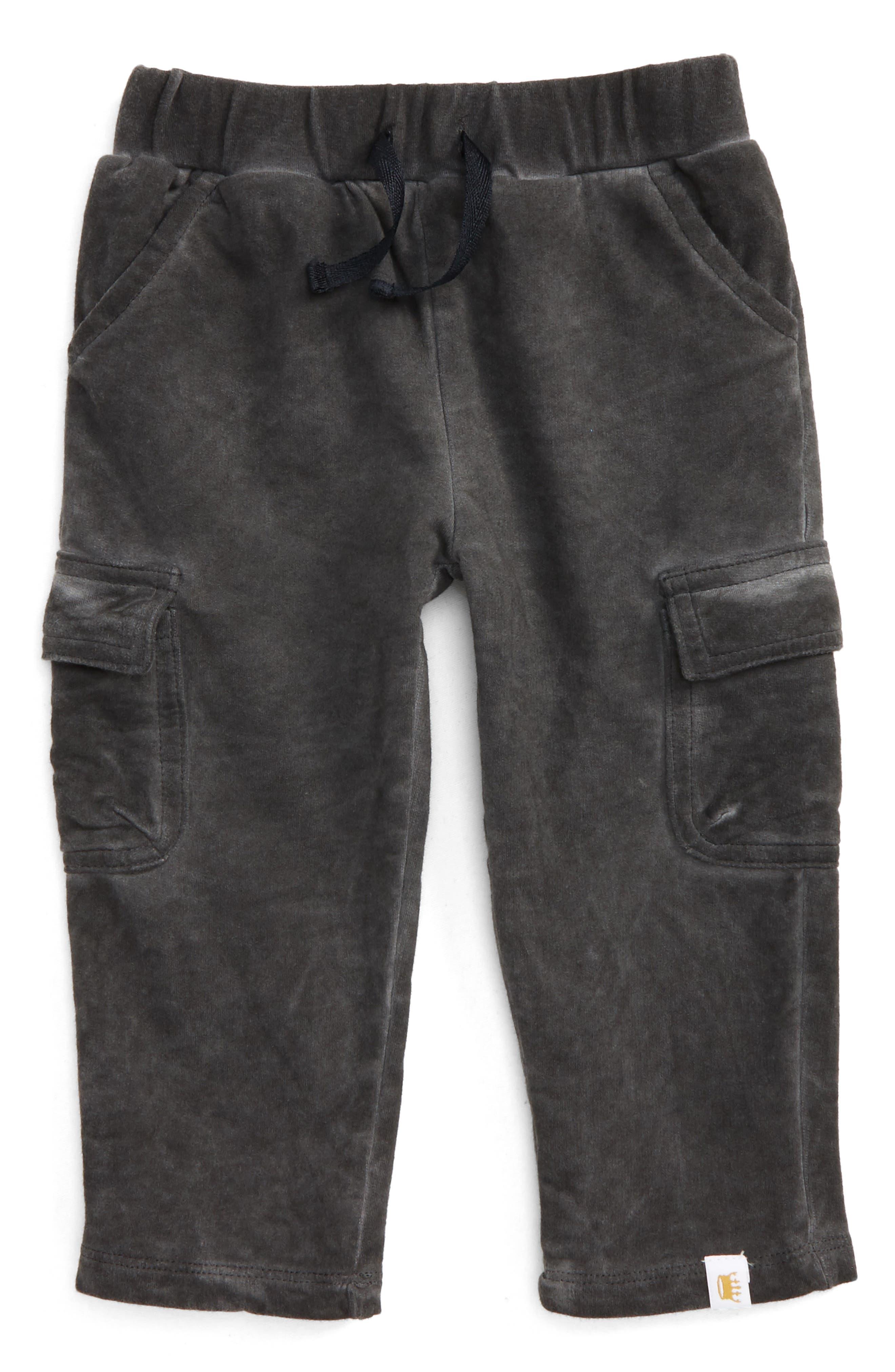 Main Image - Rosie Pope Fleece Cargo Pants (Baby Boys)
