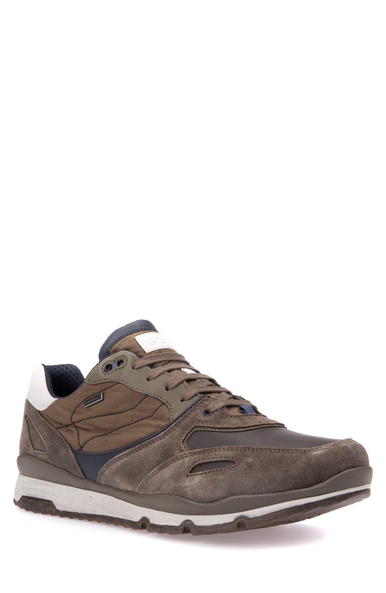 Sandro ABX Ambphibiox Waterproof Sneaker,                             Main thumbnail 1, color,                             Taupe