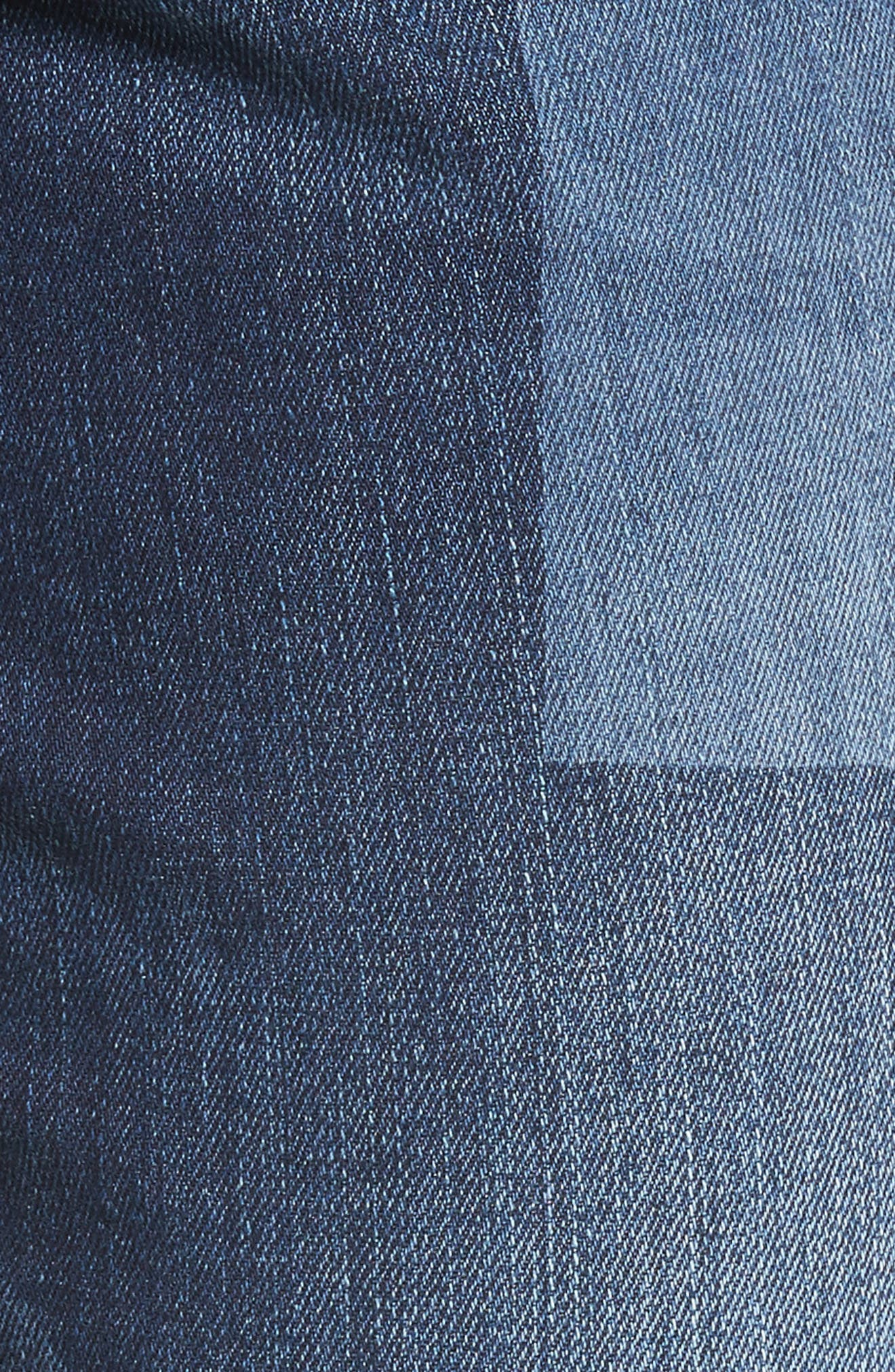 Mera Skinny Ankle Jeans,                             Alternate thumbnail 4, color,                             Bucket Blue