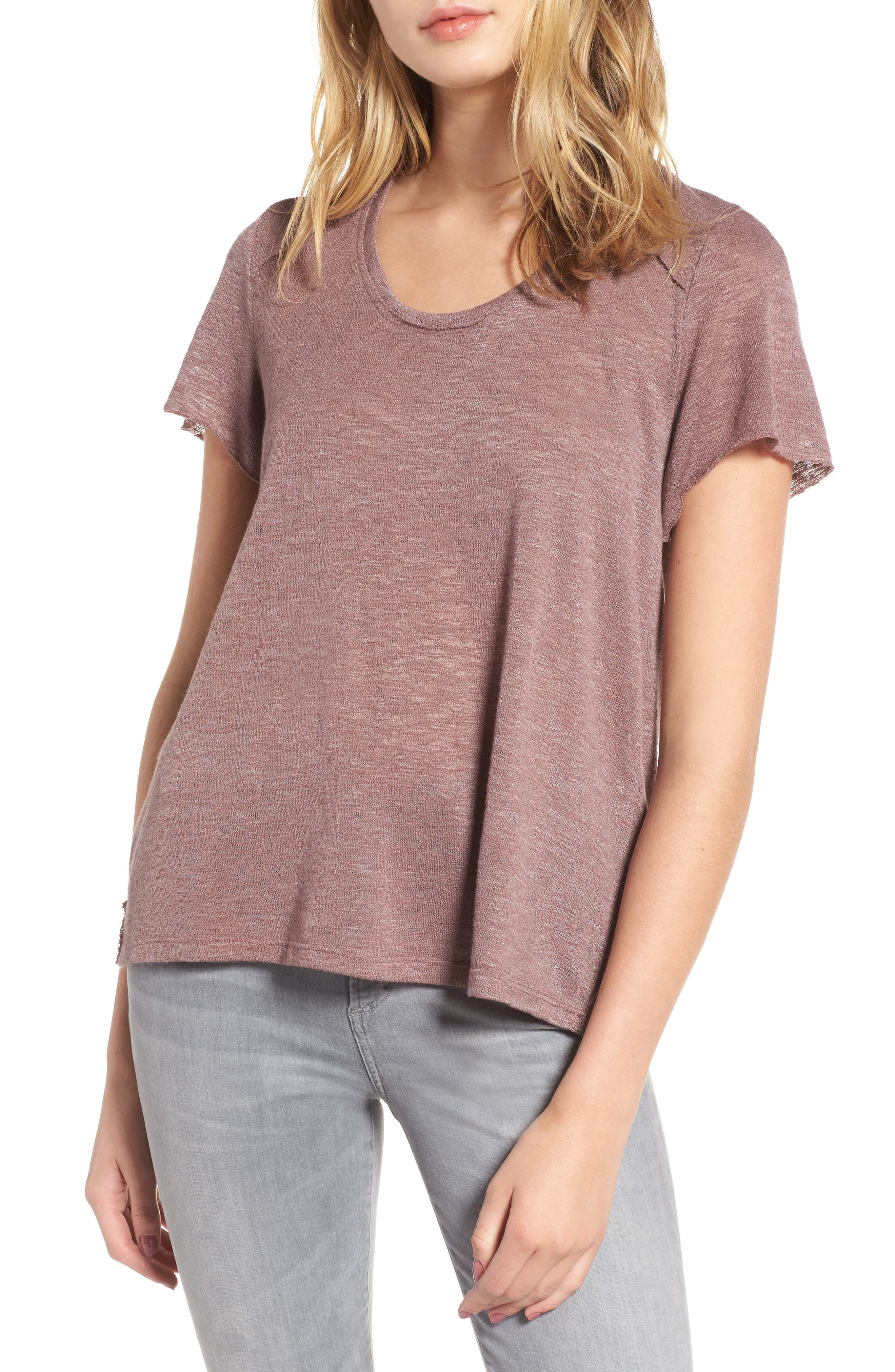 Slub Tee,                         Main,                         color, Lavender