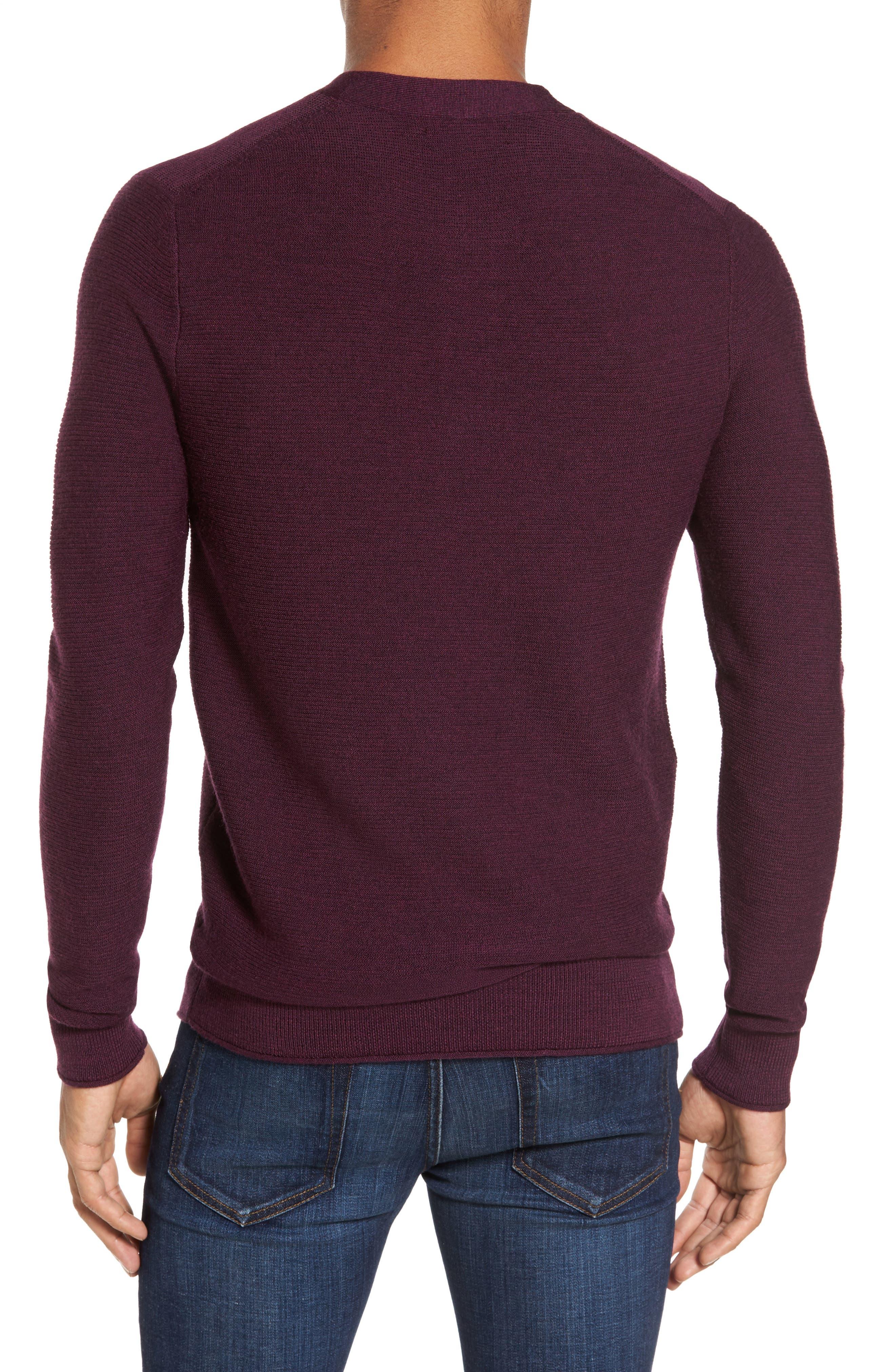 Alternate Image 2  - Bonobos Slim Fit Merino Long Sleeve Henley Sweater