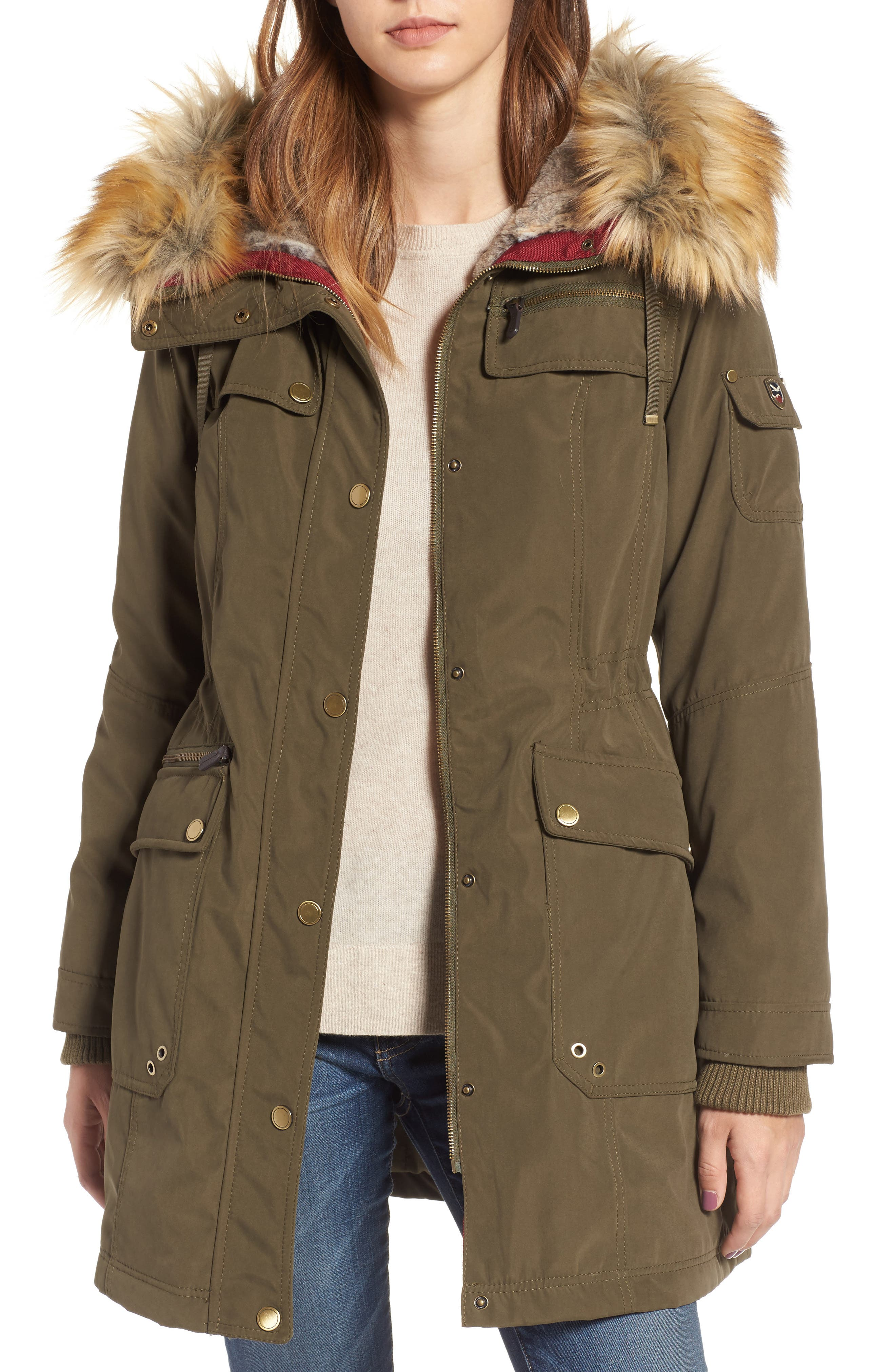 1 Madison Anorak Parka with Faux Fur Trim | Nordstrom