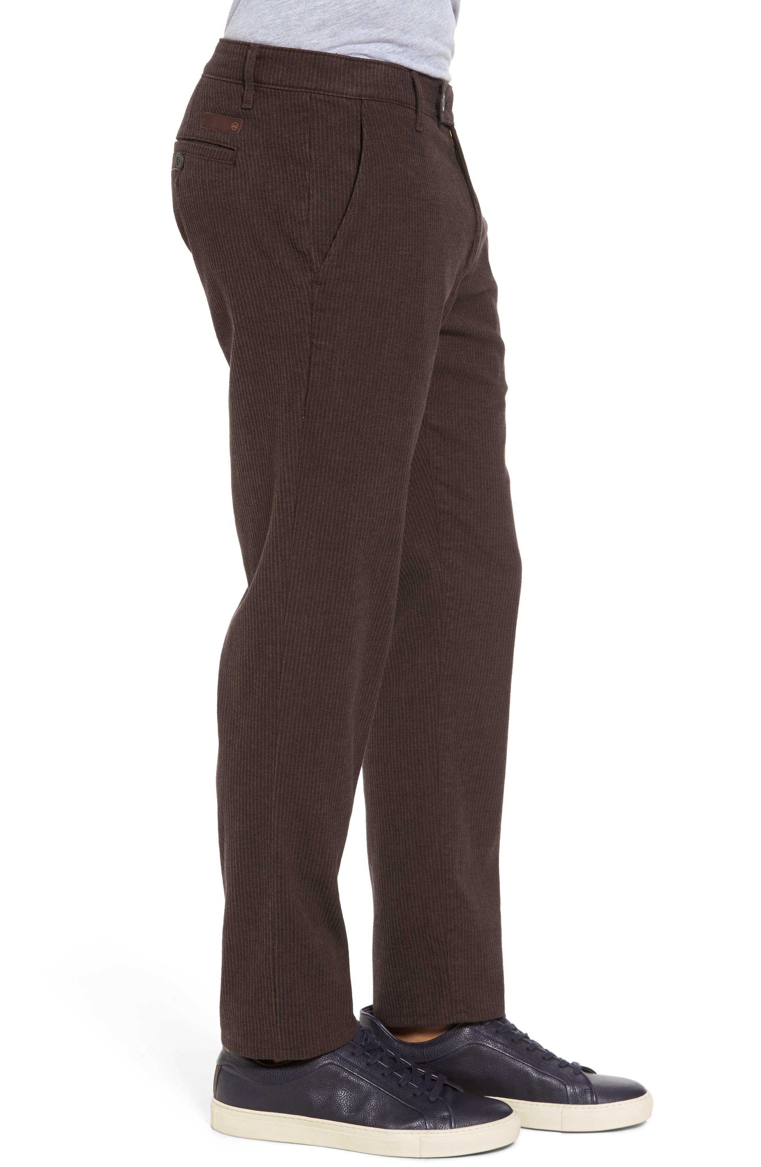 Marshall Slim Fit Pinstripe Pants,                             Alternate thumbnail 3, color,                             Dark Oakwood