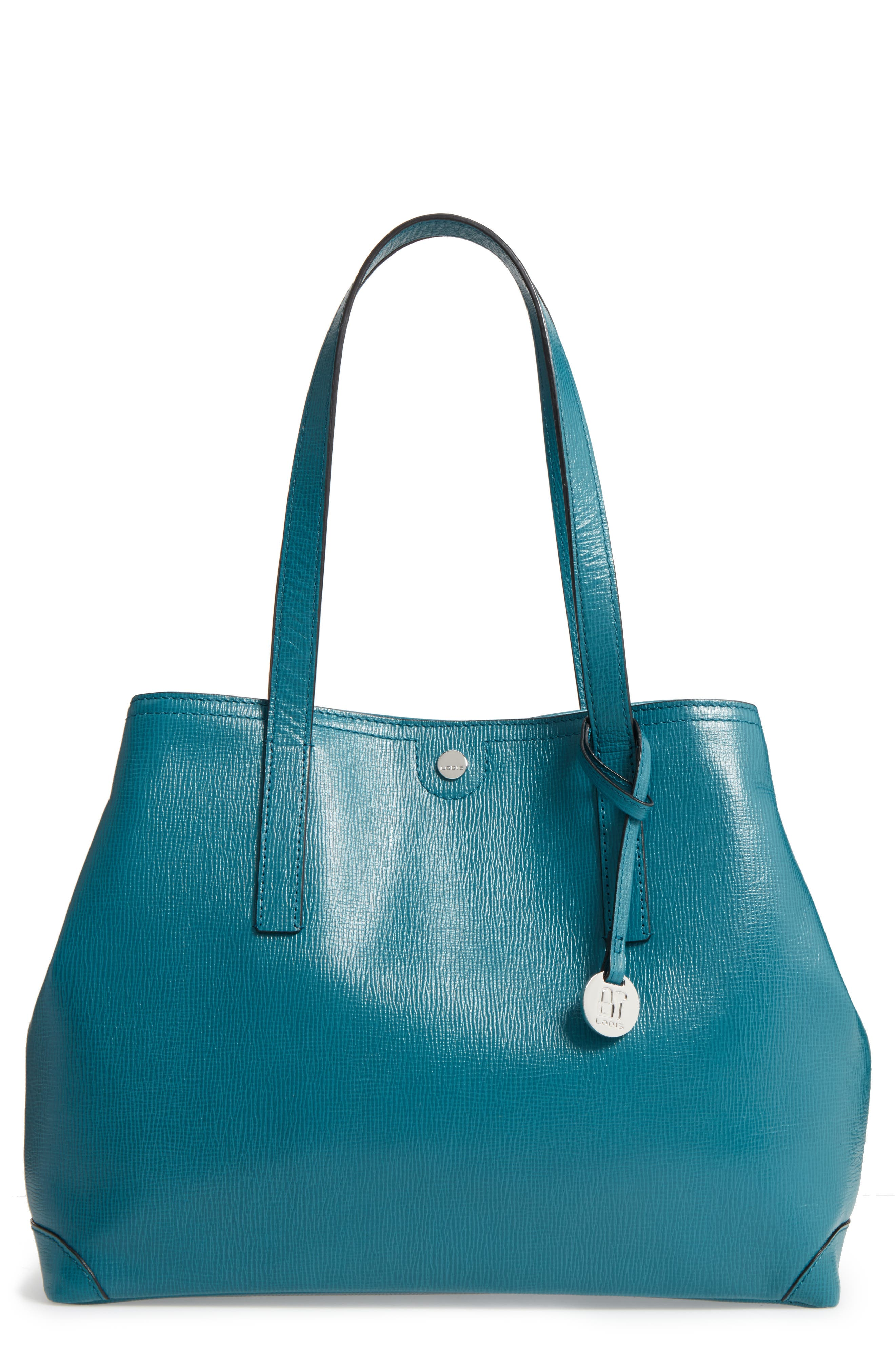 Alternate Image 1 Selected - Lodis Business Chic Louisa RFID-Protected Leather Tote