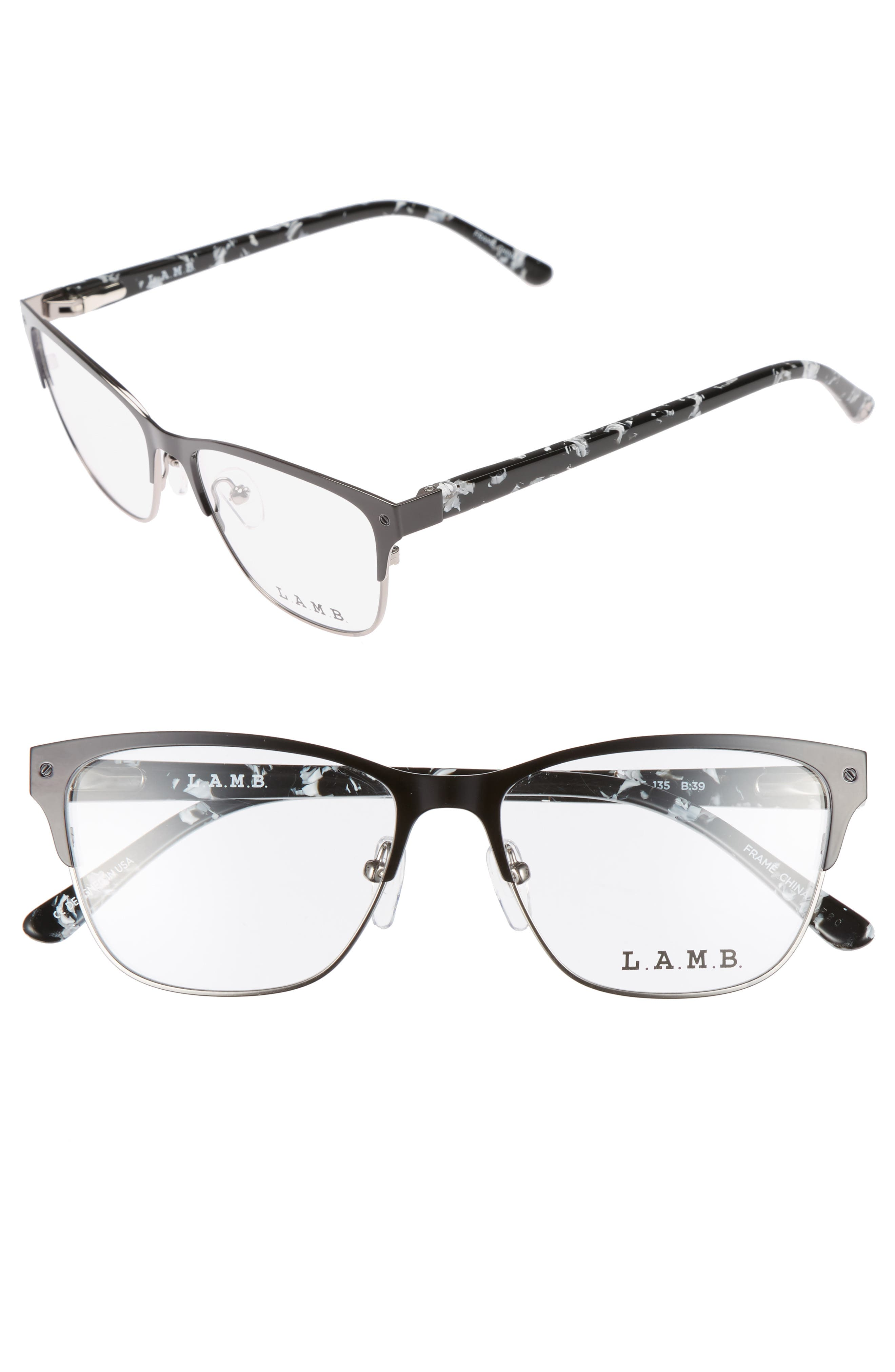 52mm Cat Eye Optical Glasses,                         Main,                         color, Black