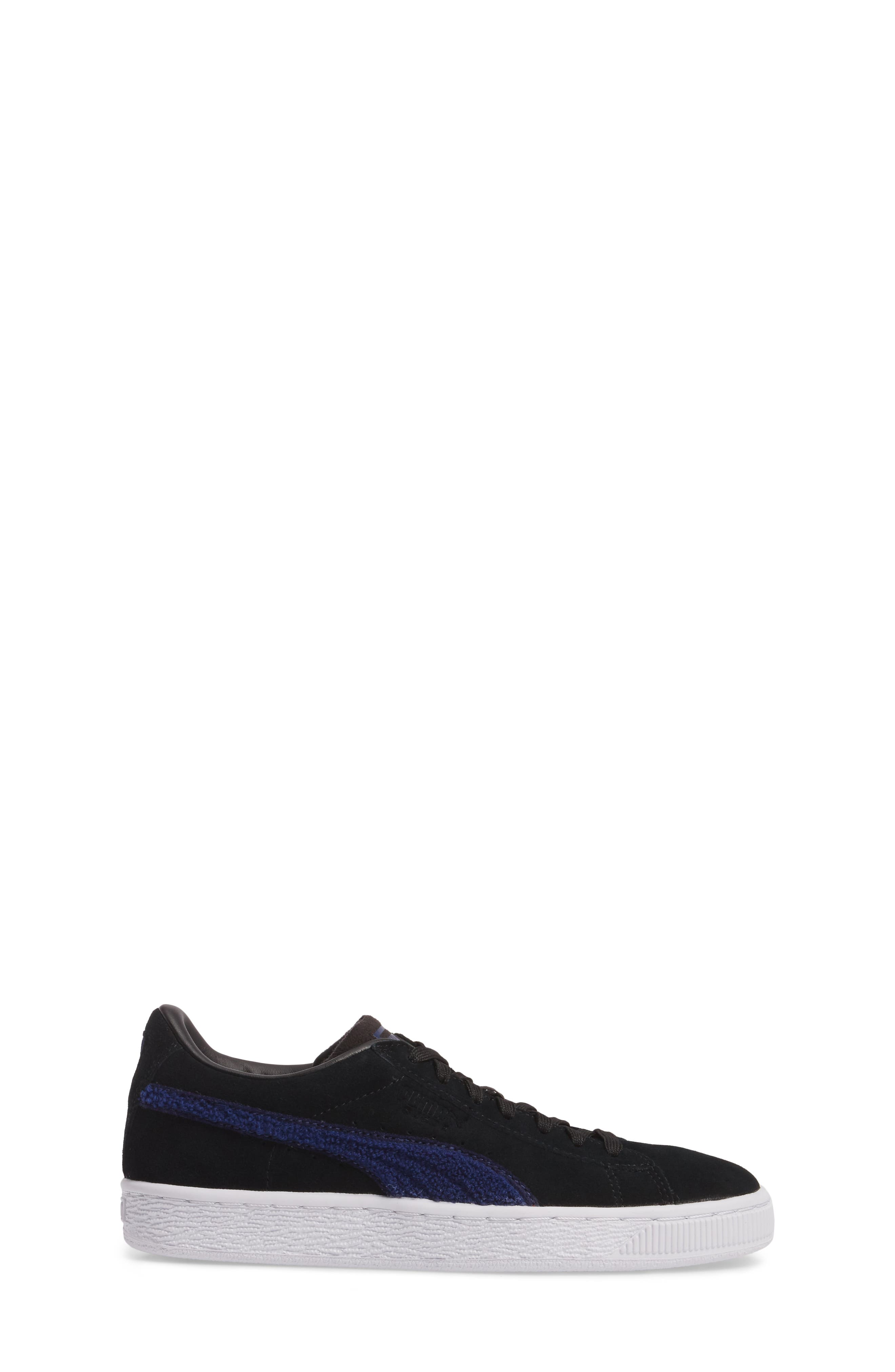 Classic Terry Jr Sneaker,                             Alternate thumbnail 3, color,                             Black