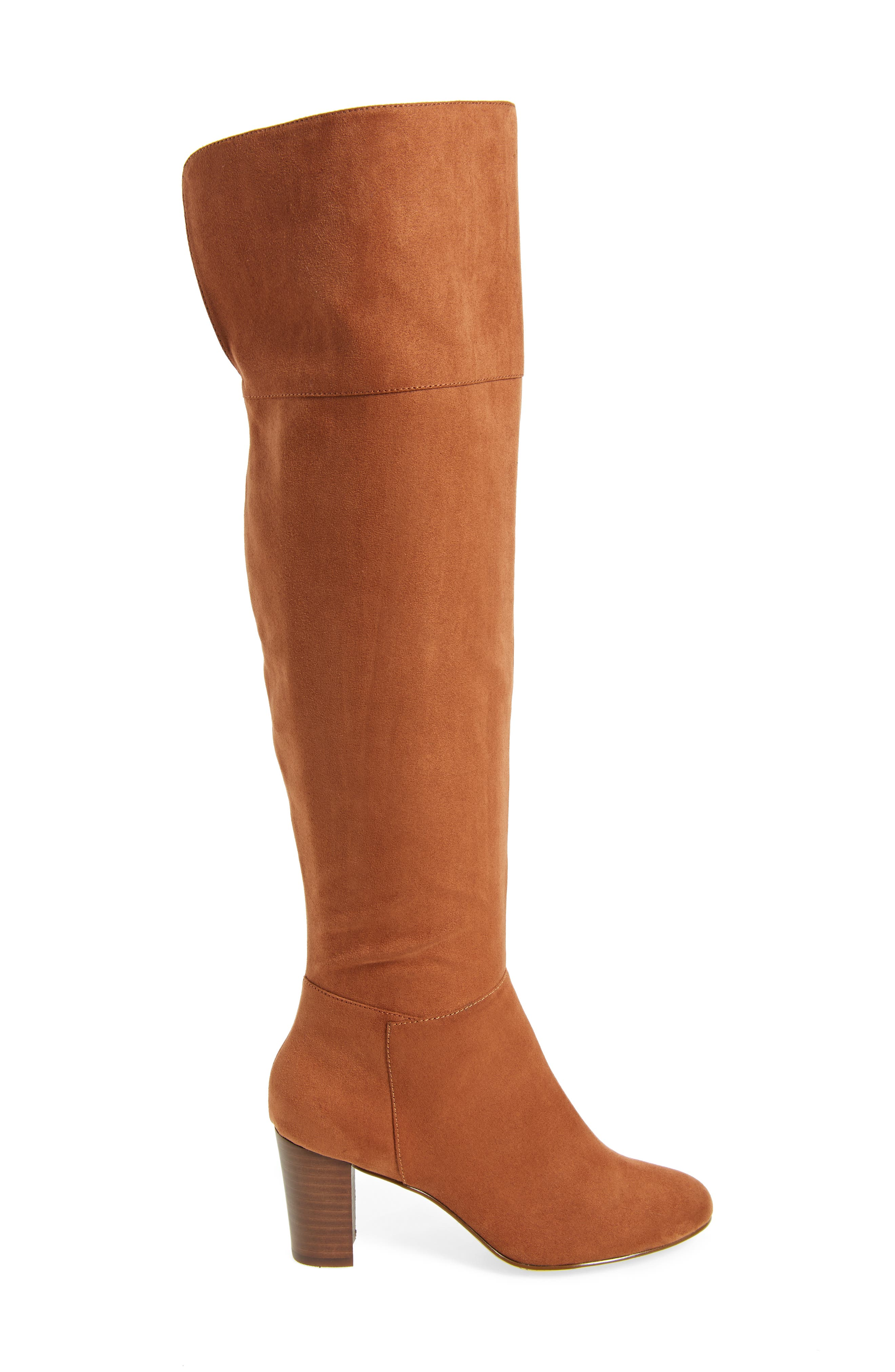 Telluride II Over the Knee Boot,                             Alternate thumbnail 3, color,                             Camel Suede