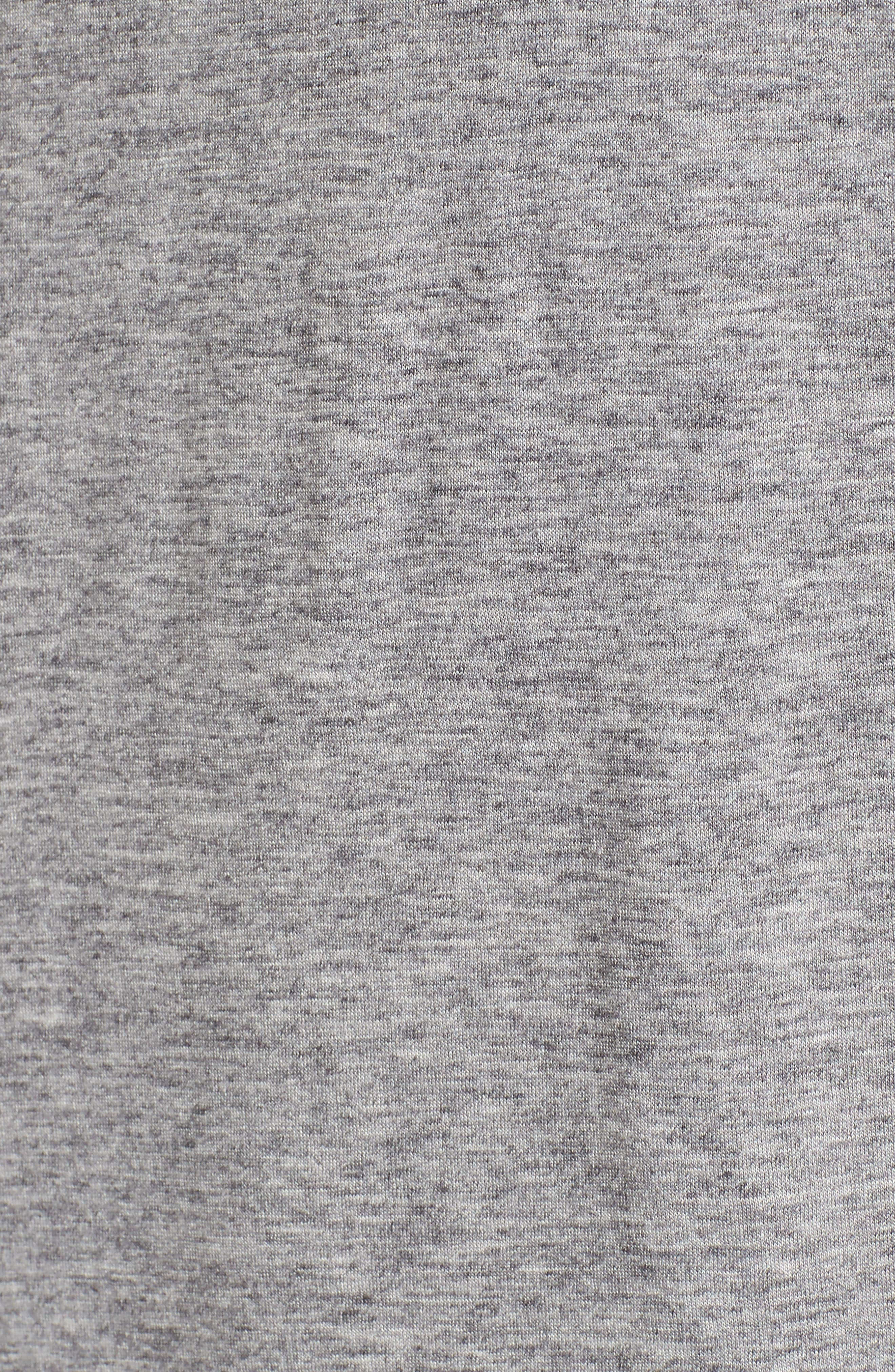 Lightweight Turtleneck Sweater,                             Alternate thumbnail 5, color,                             Grey Melange
