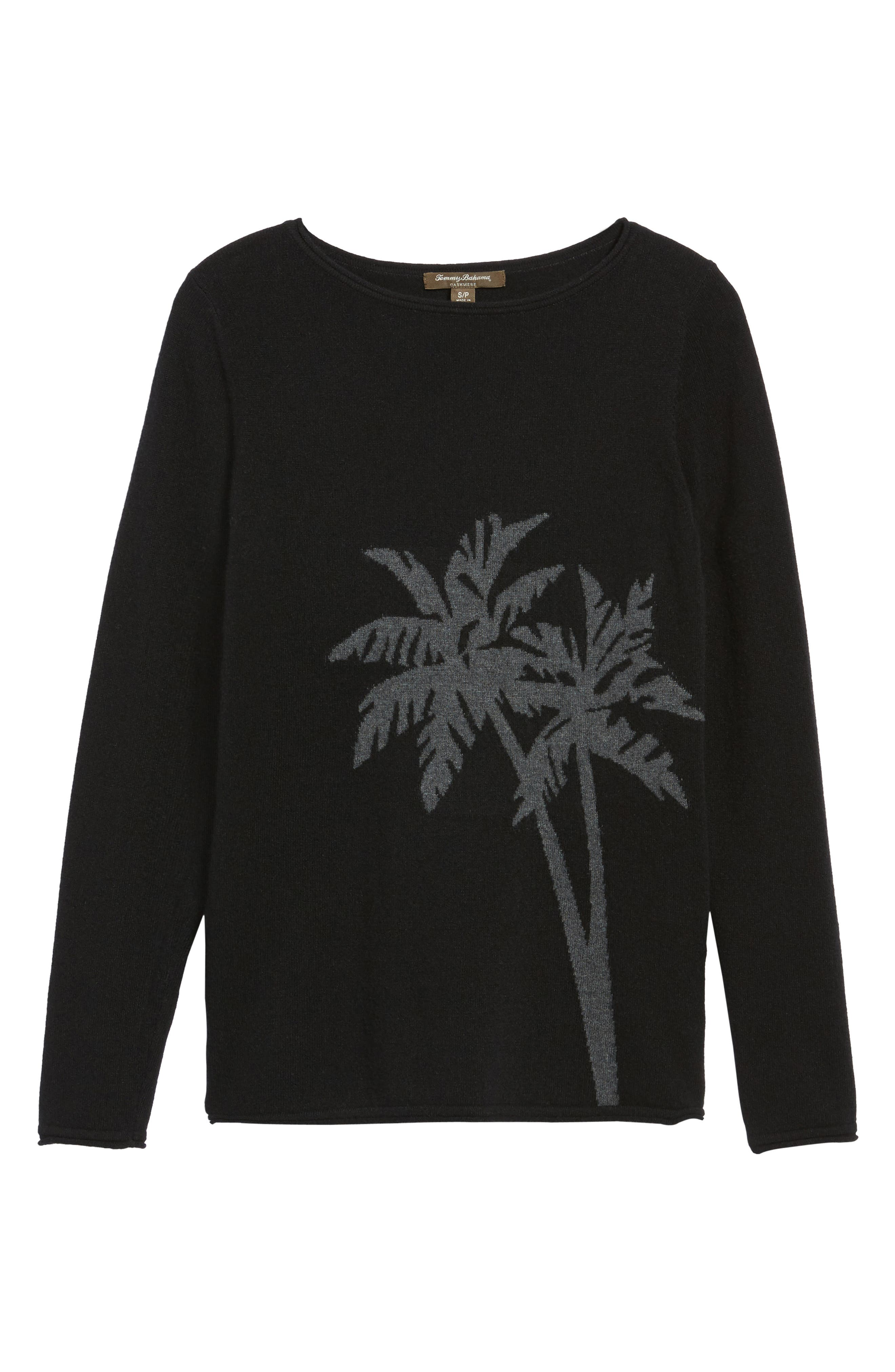 Alternate Image 6  - Tommy Bahama Island Palm Intarsia Cashmere Pullover