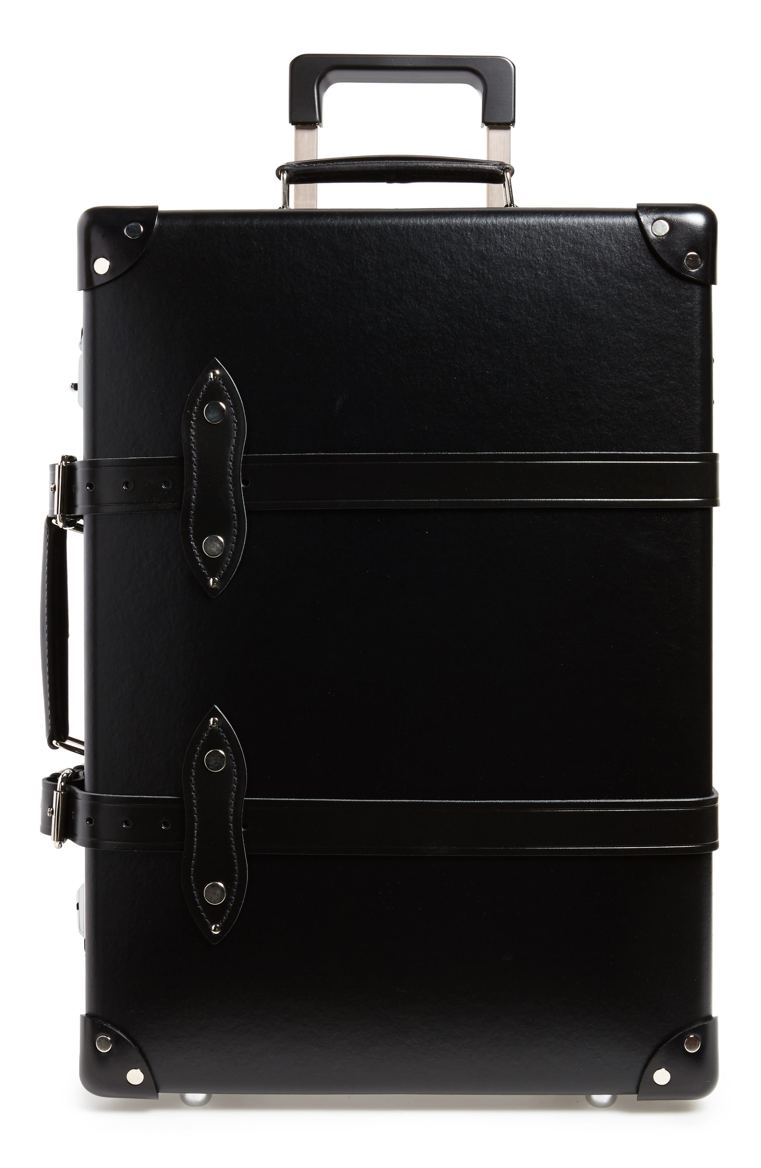 Centenary 21-Inch Hardshell Travel Trolley Case,                             Main thumbnail 1, color,                             Black/ Black
