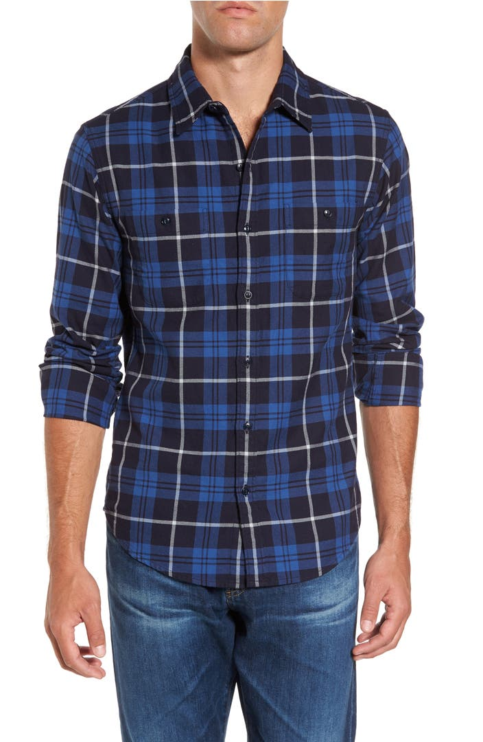 Bonobos slim fit plaid flannel sport shirt nordstrom for Trim fit flannel shirts