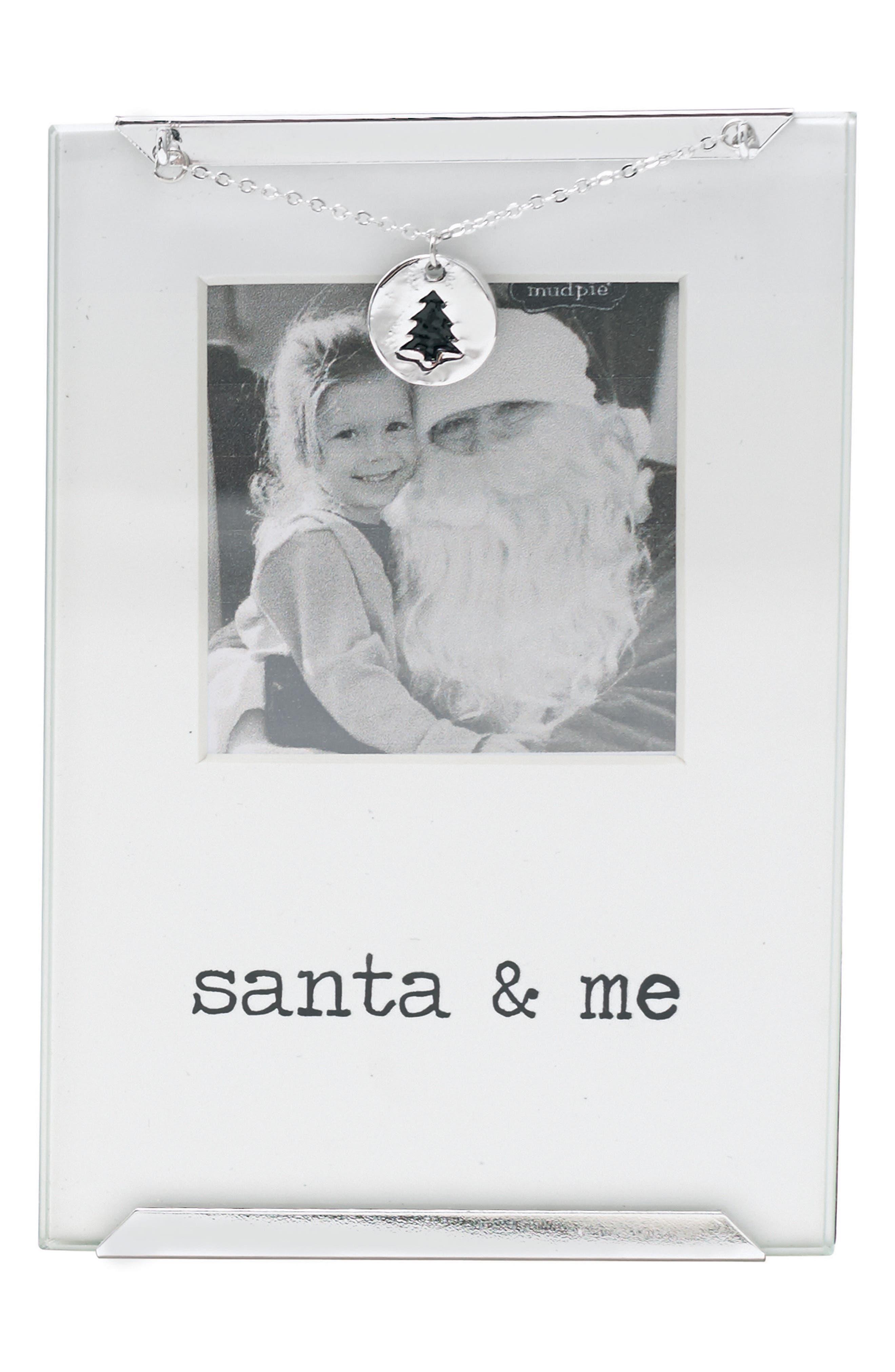 Santa & Me Photo Frame,                         Main,                         color, Silver