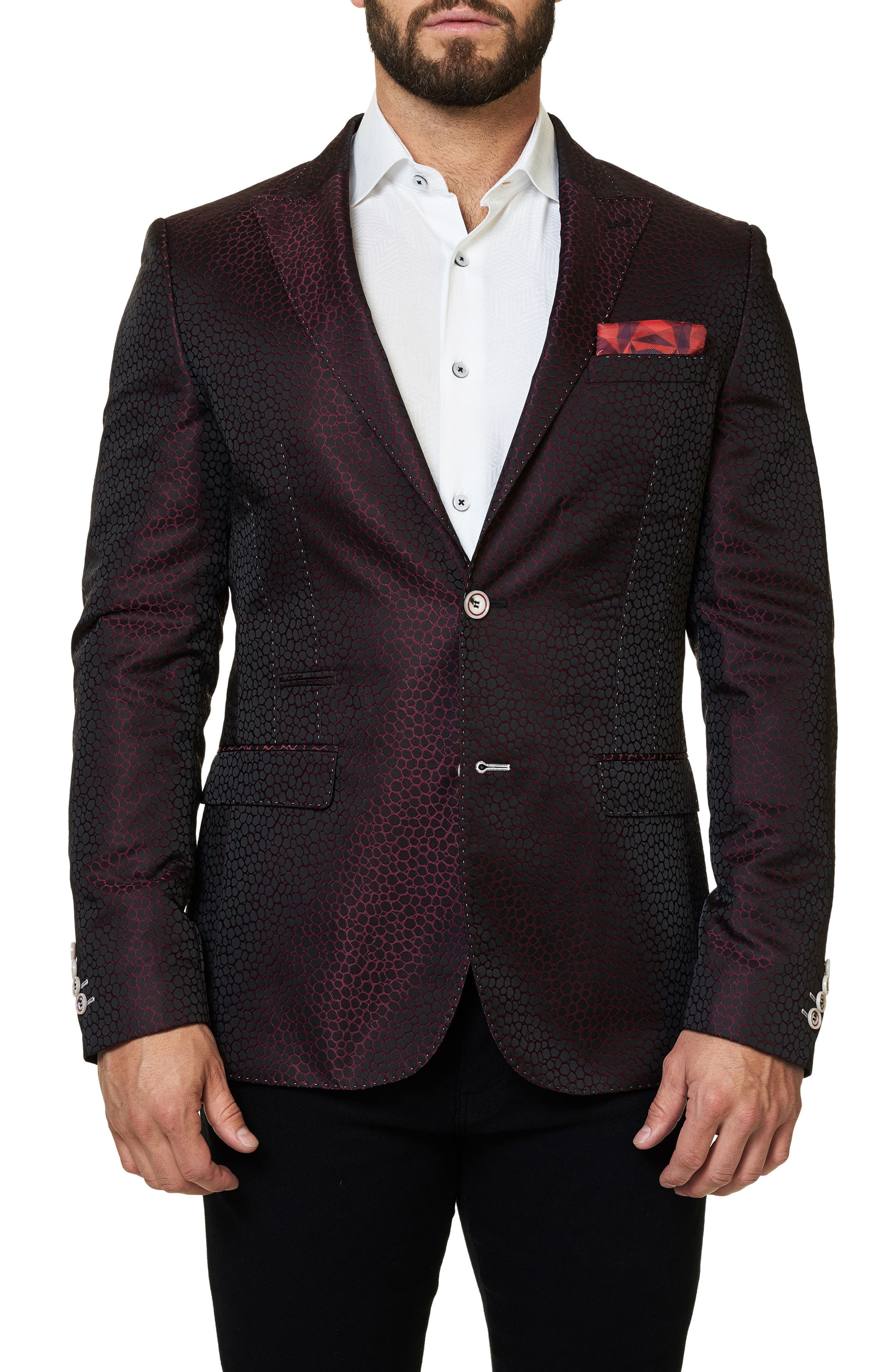 Alternate Image 1 Selected - Maceoo Elegance Jacquard Sport Coat
