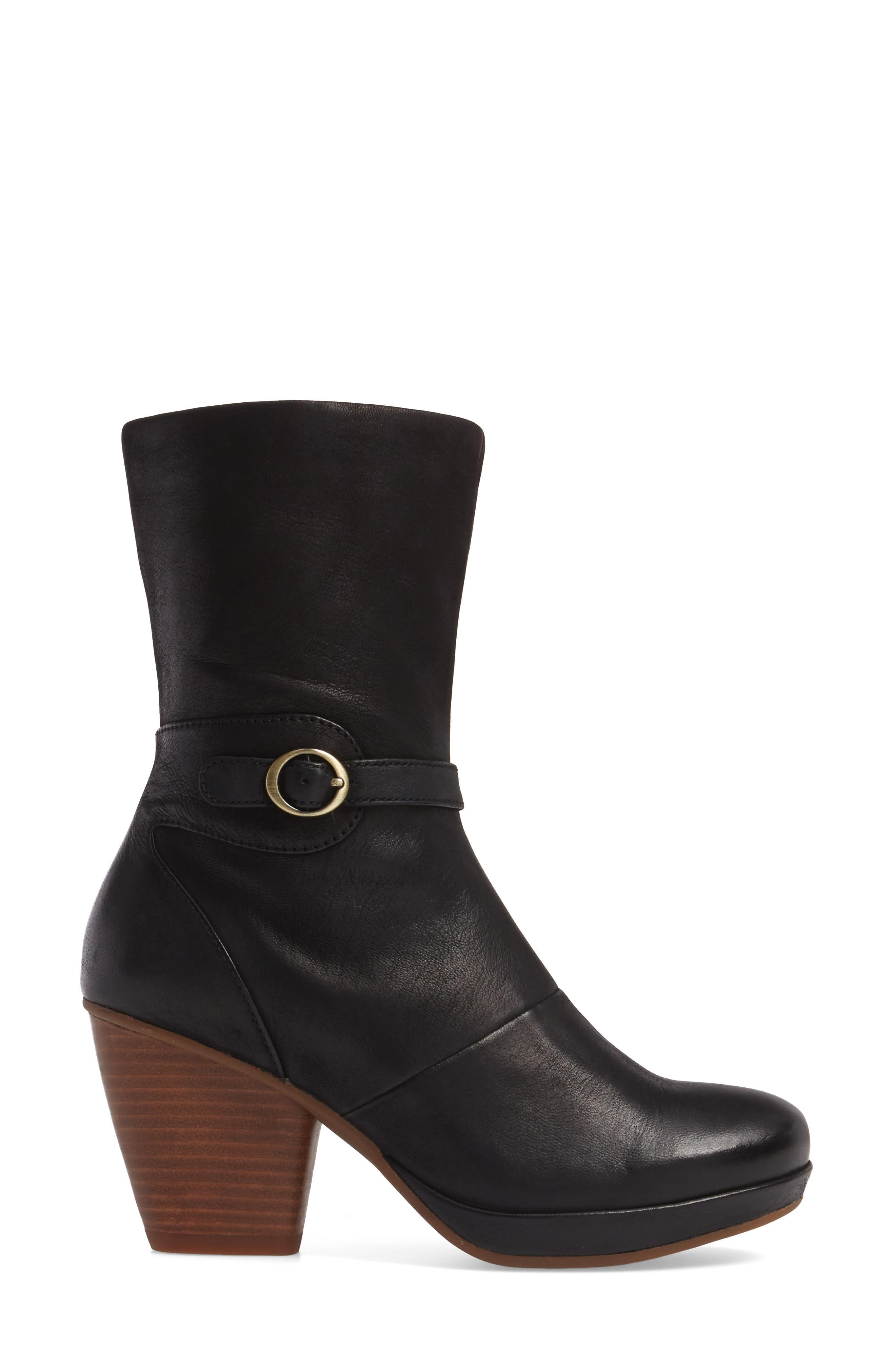 Marietta Boot,                             Alternate thumbnail 3, color,                             Black Burnished Nubuck Leather